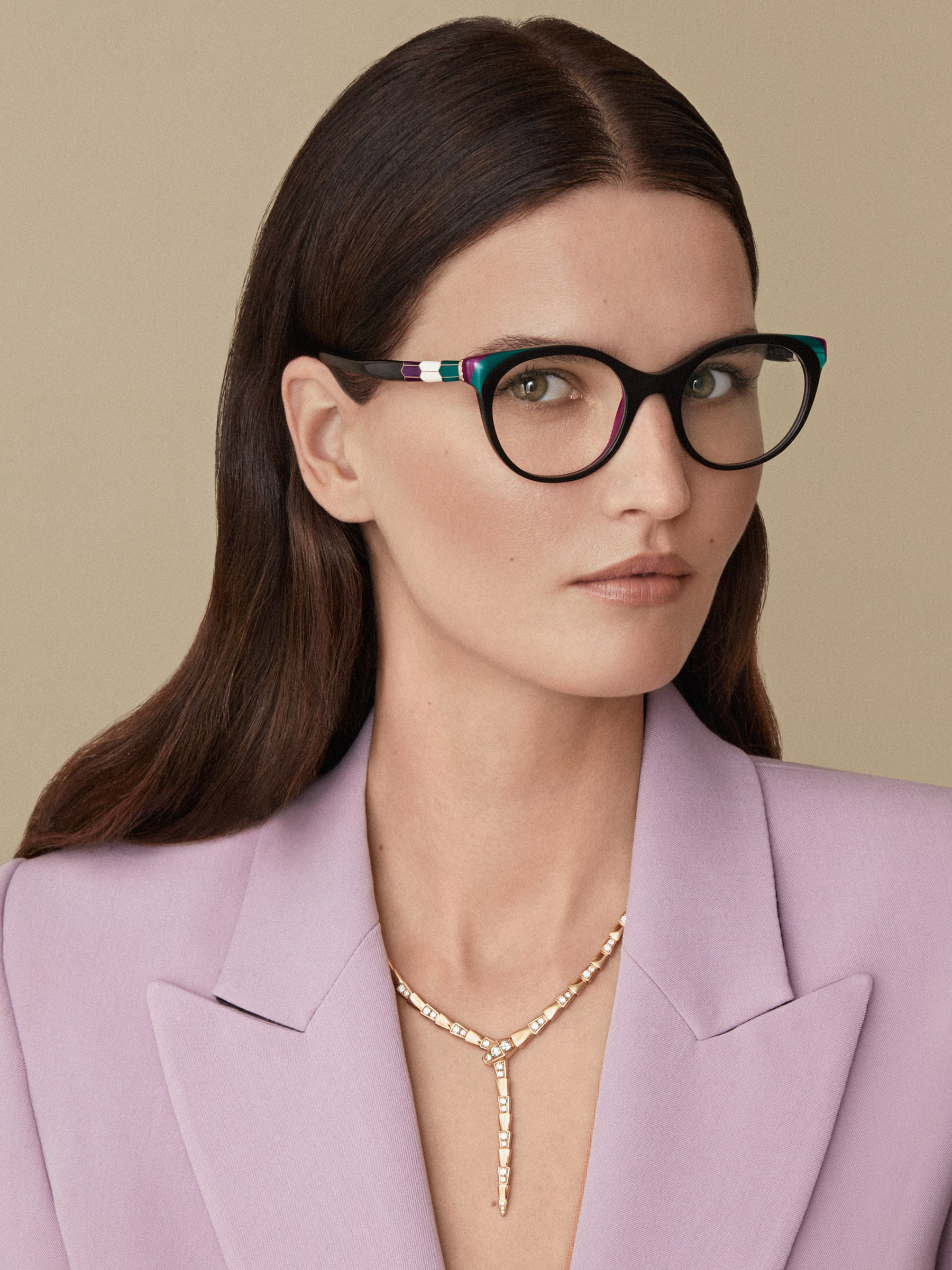 """Serpenti """"Back to Scale"""" acetate panthos glasses 904061 image 3"""