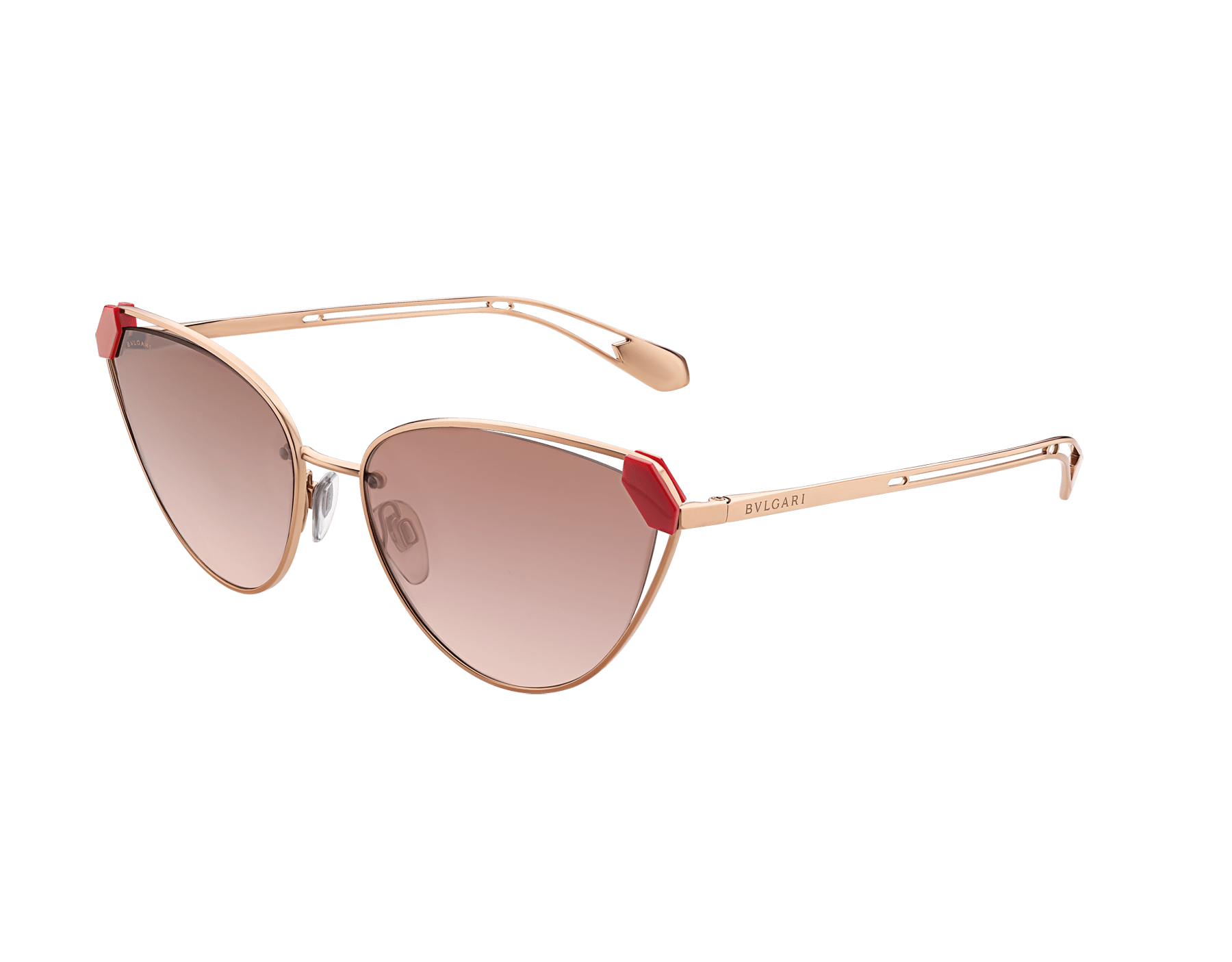 Bvlgari Serpenti Candy Scale narrow cat-eye metal sunglasses. 903729 image 1