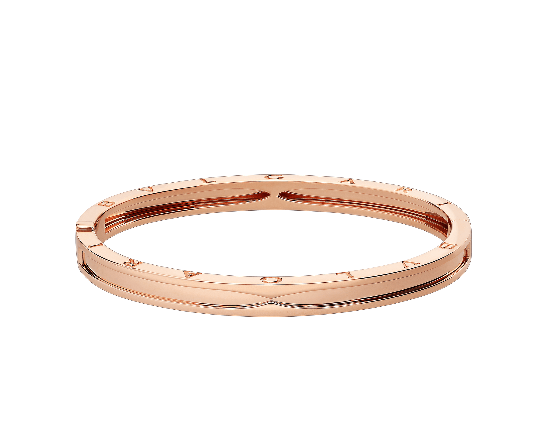 B.zero1 bangle bracelet in 18 kt rose gold. BR857371 image 2