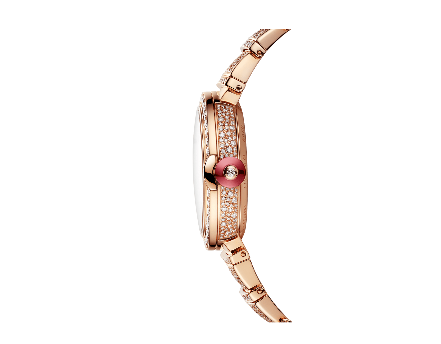 LVCEA watch in 18kt rose gold case and bracelet, both set with brilliant-cut diamonds, and full pavé diamond dial. 102617 image 3