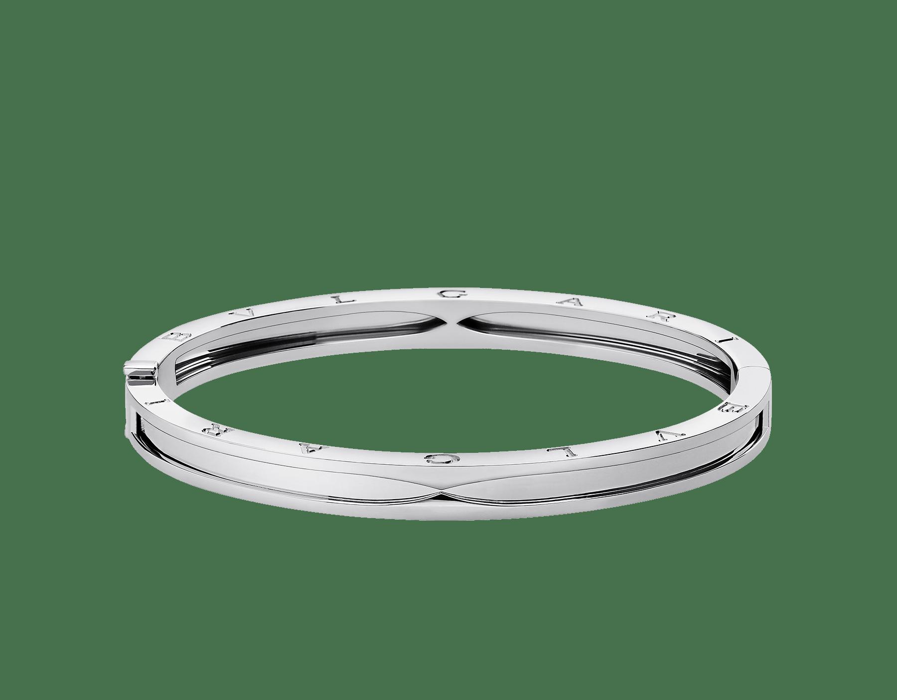 B.zero1 bangle bracelet in 18 kt white gold. BR857412 image 2