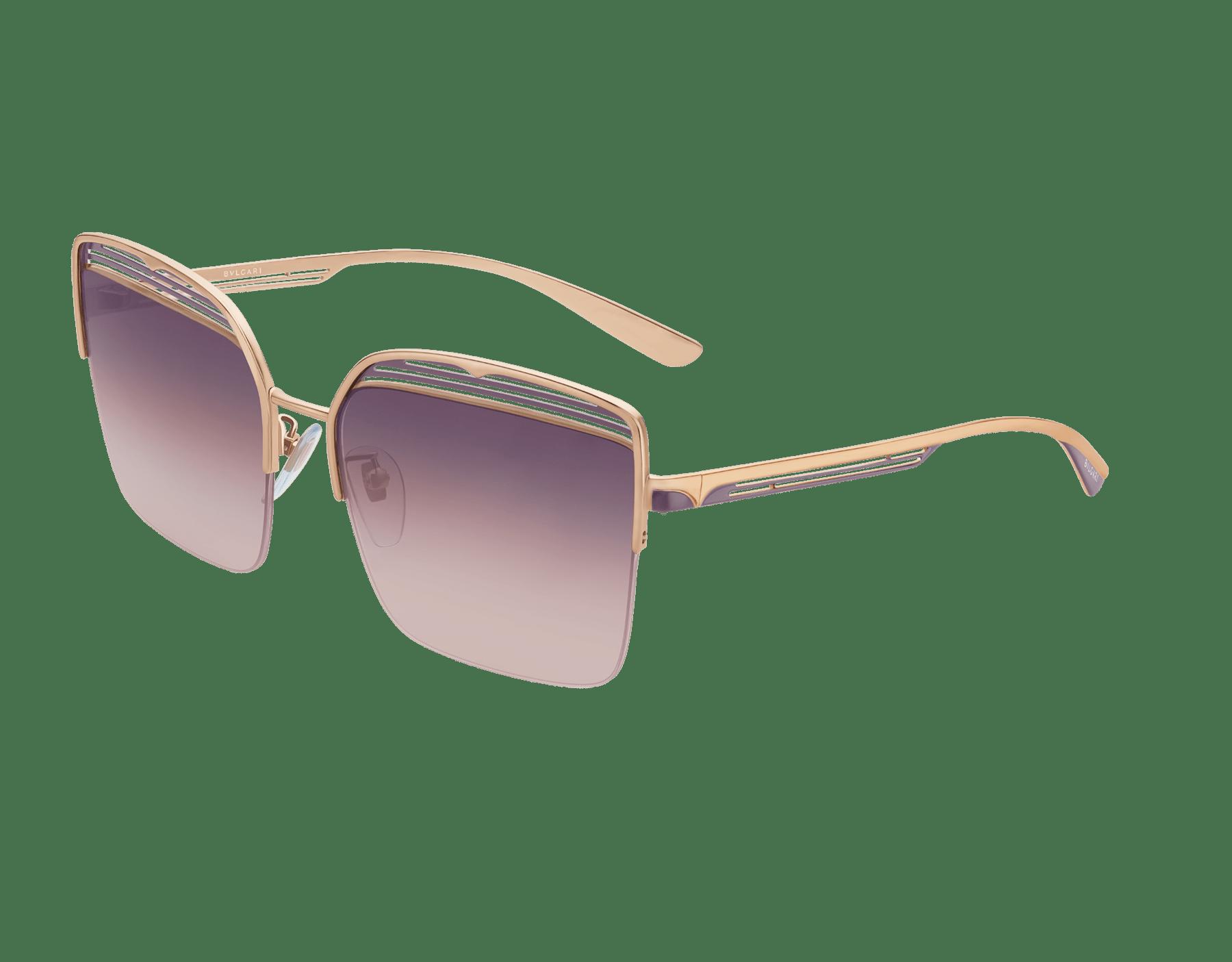 Bvlgari B.zero1 B.overvibe half-rim square metal sunglasses. 903813 image 1