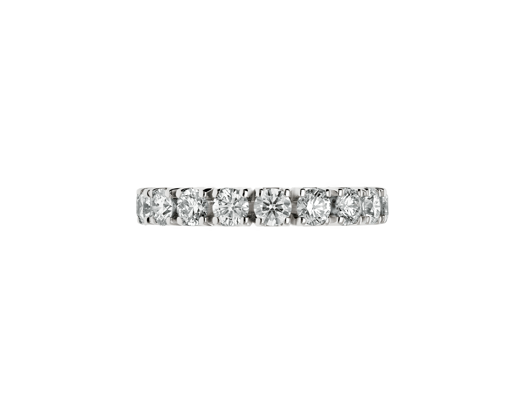 Eternity Band in 18 kt white gold with diamonds AN203902 image 2
