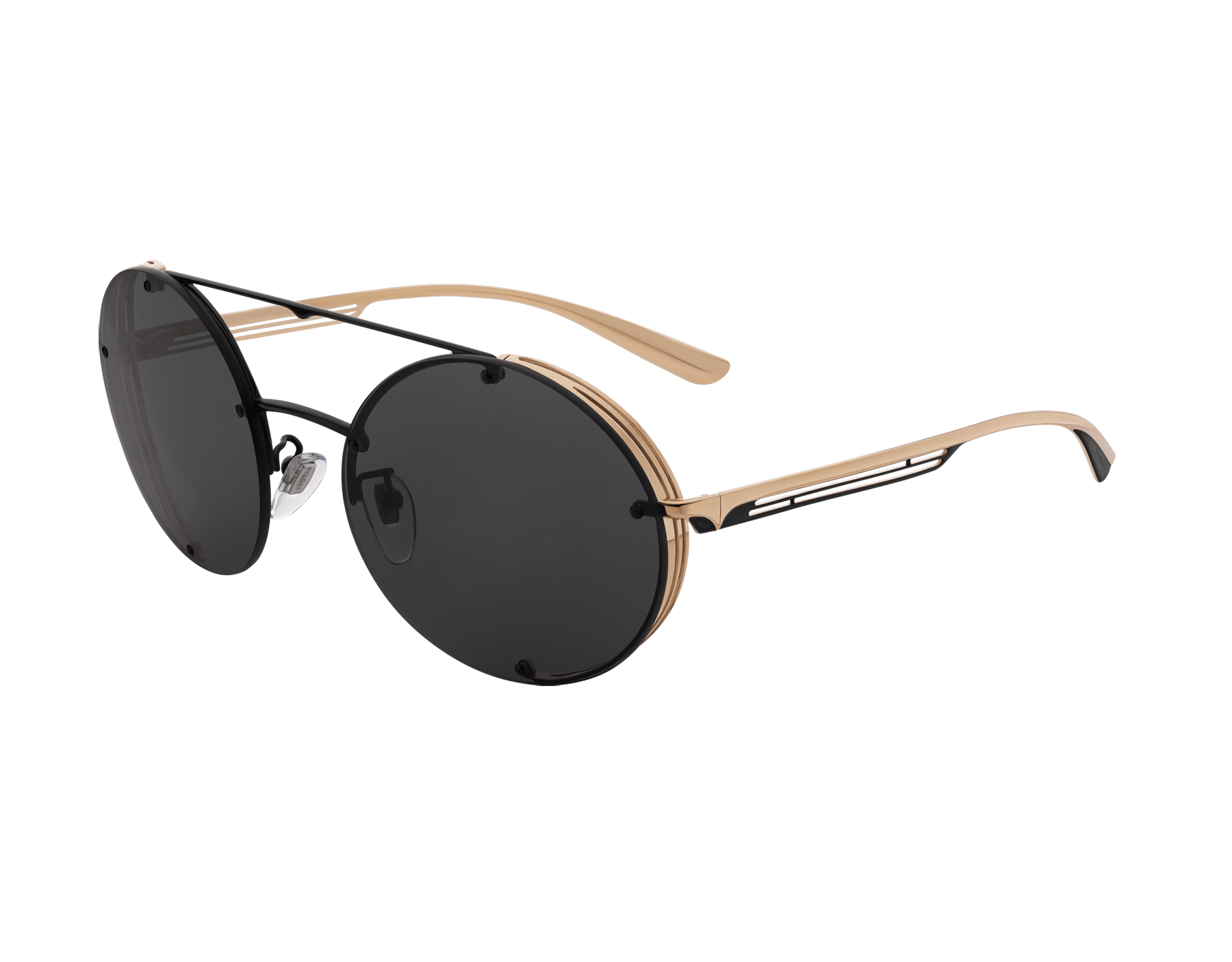Bvlgari B.zero1 B.flyingstripe round metal aviator sunglasses. 903818 image 1