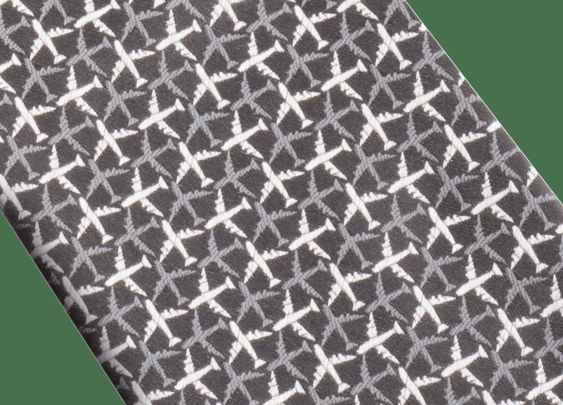 Cravate Double Airways grise en soie fine. 243718 image 2