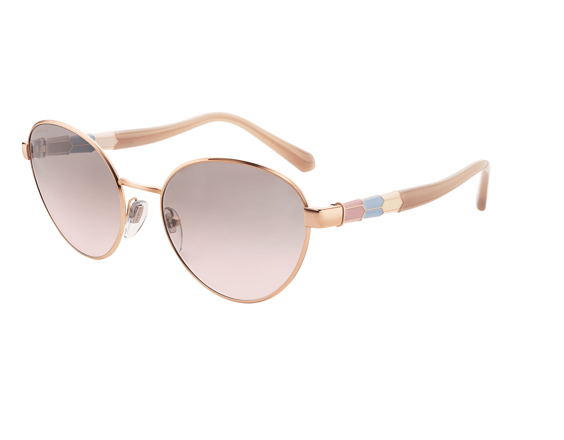 "Serpenti ""Back to Scale"" oval metal sunglasses 904079 image 1"