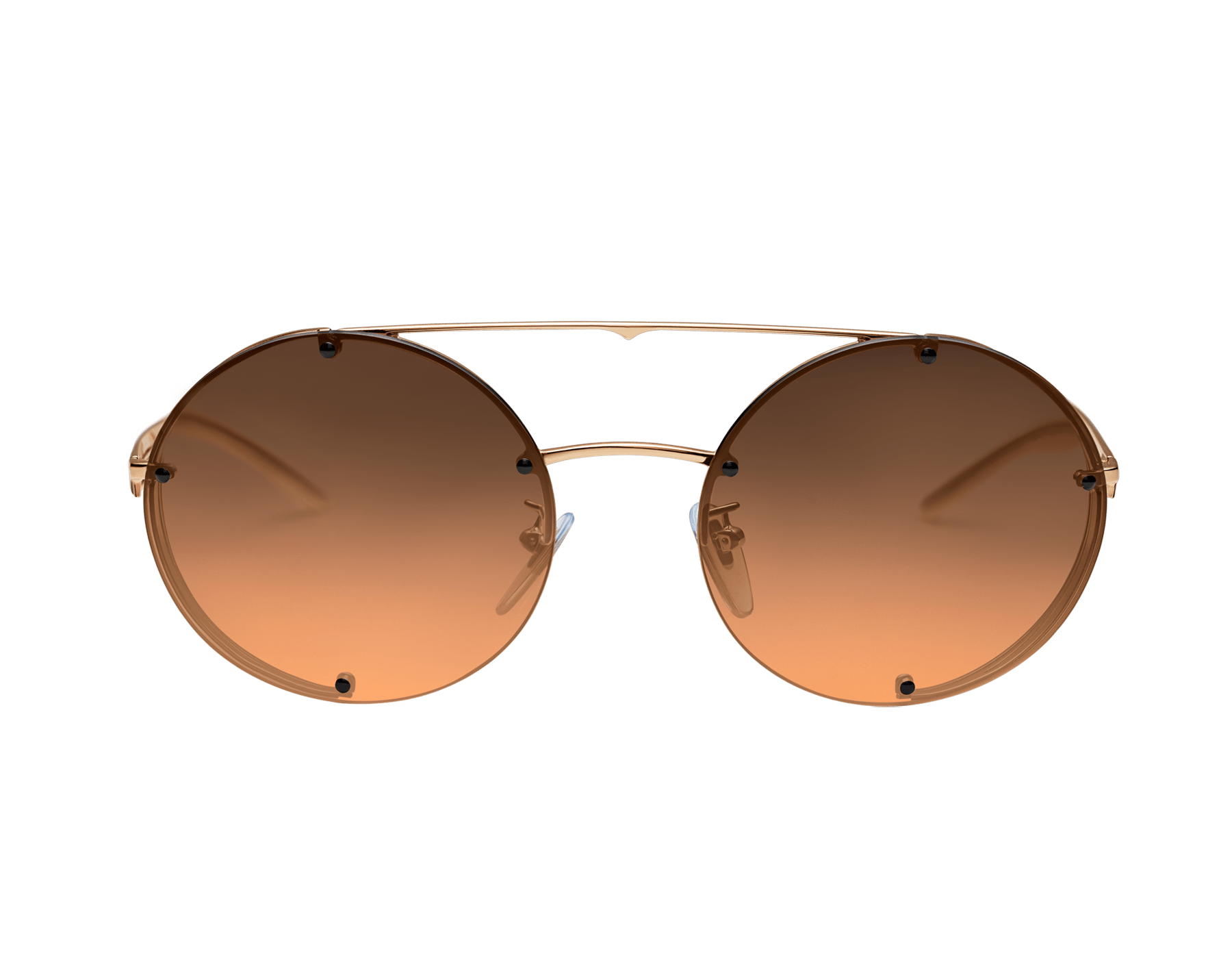 Bvlgari B.zero1 B.flyingstripe round metal aviator sunglasses. 903817 image 2