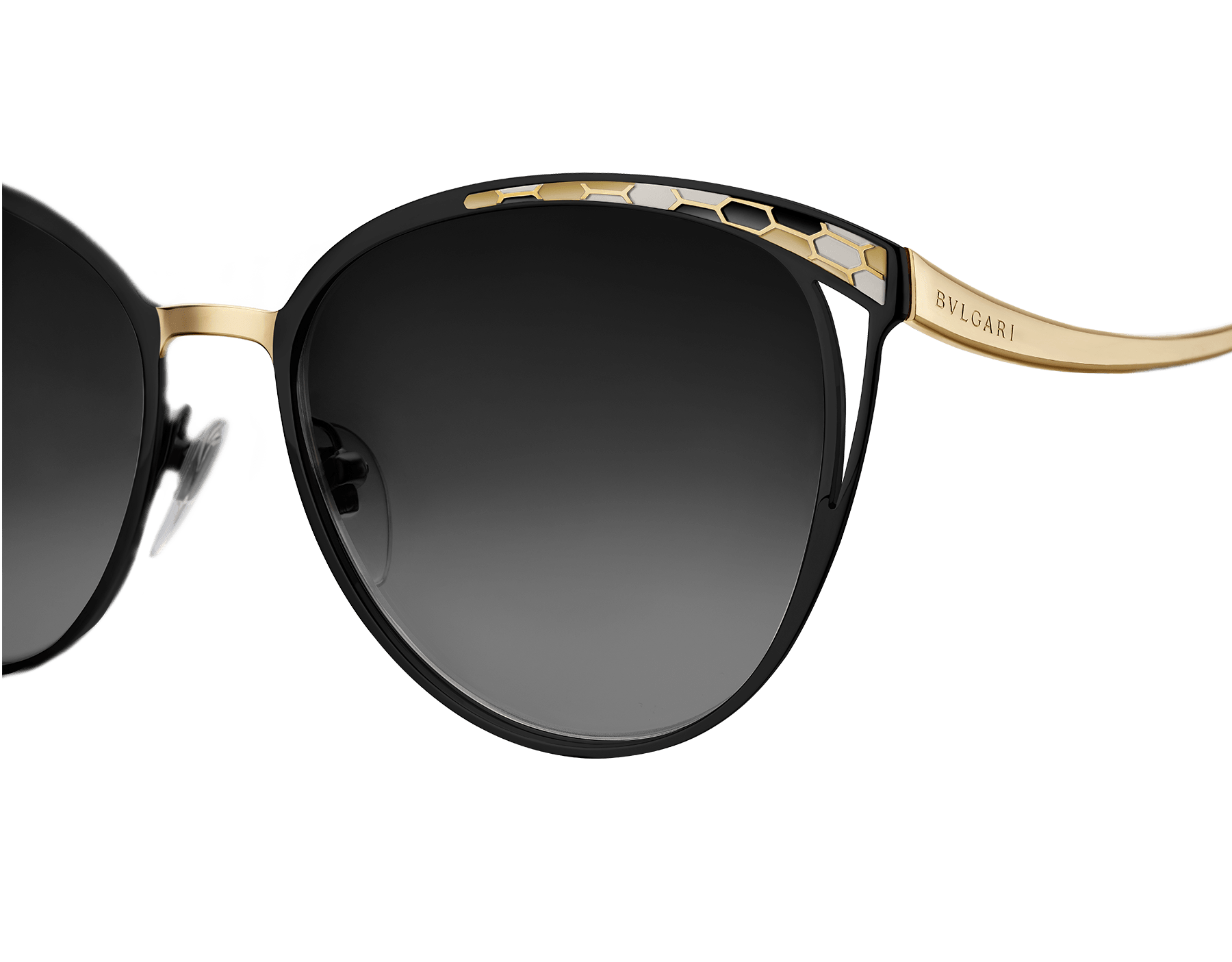 Bulgari Serpenti Serpentine cat-eye metal sunglasses. BV6083 image 2