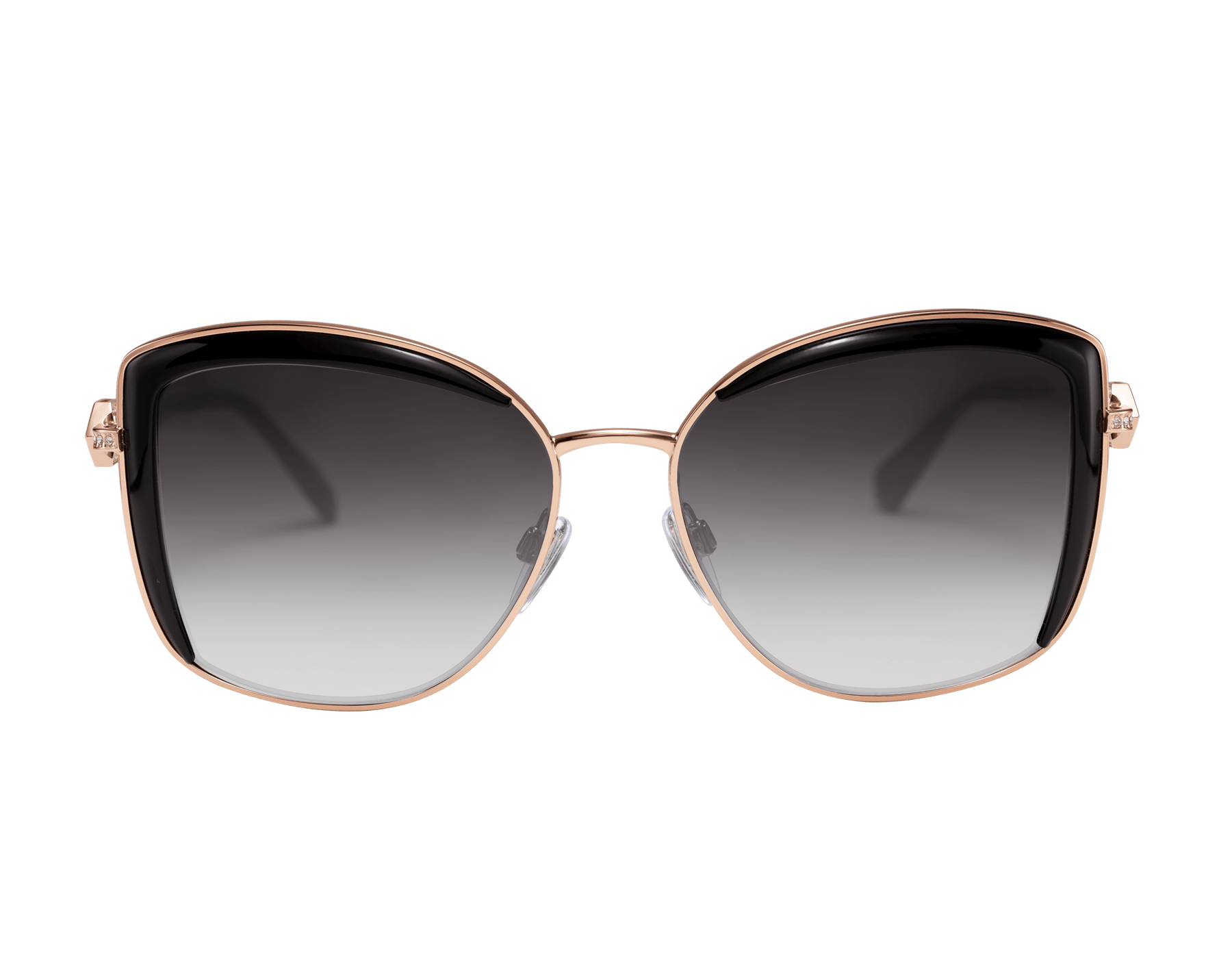 Bulgari Serpenti squared metal sunglasses with Serpenti openwork metal décor with crystals. 903903 image 2