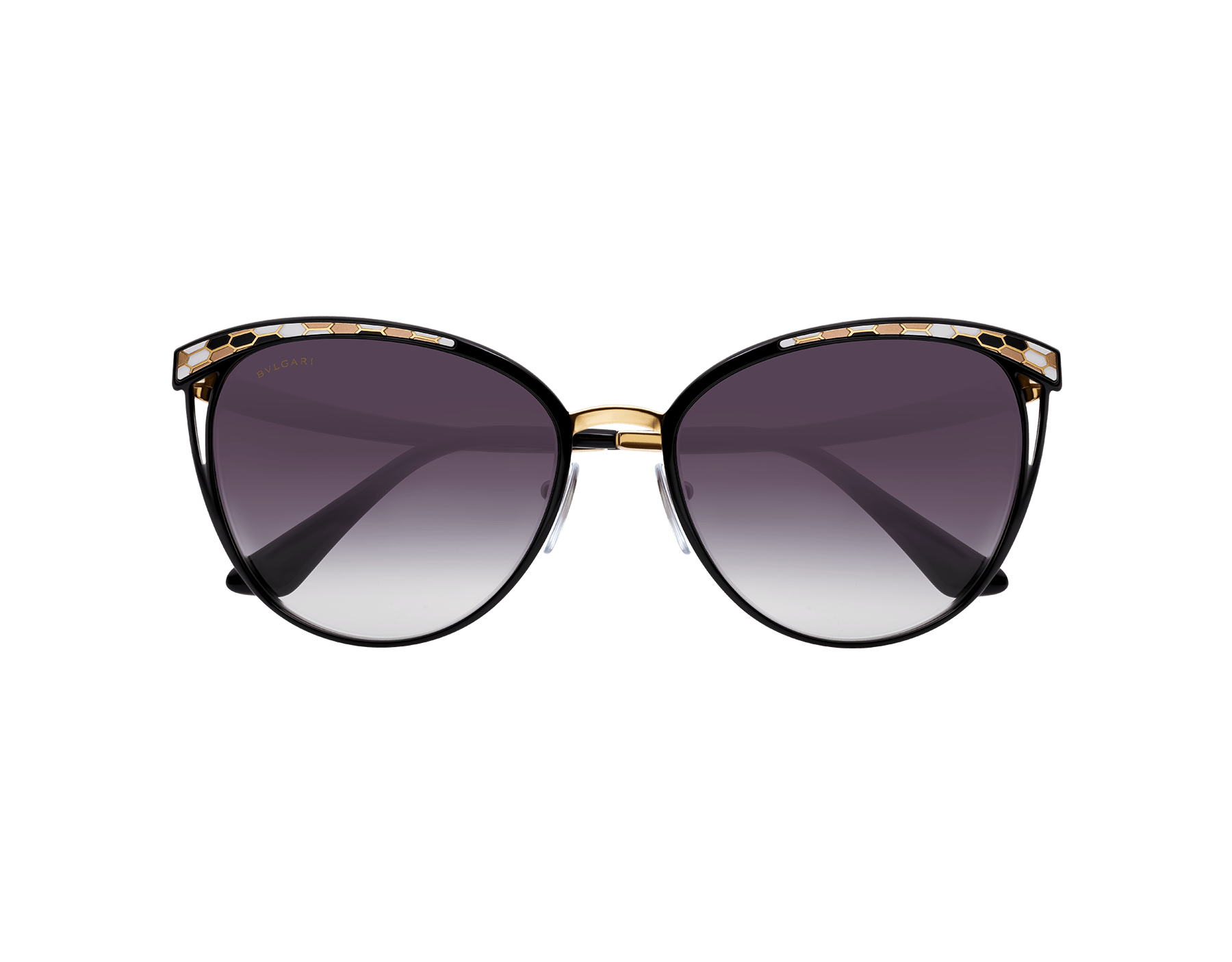 Bulgari Serpenti Serpentine cat-eye metal sunglasses. BV6083 image 3