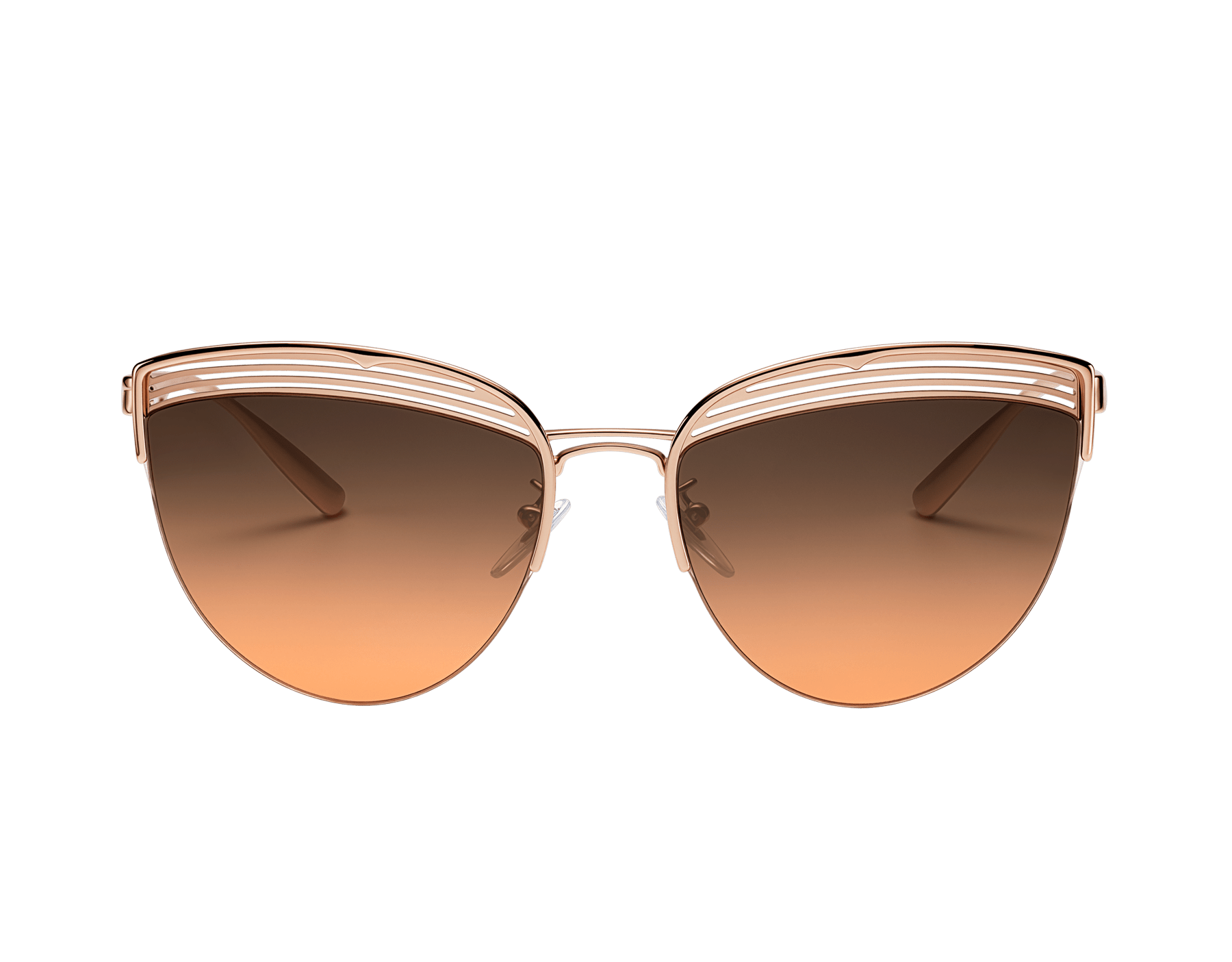 Bvlgari B.zero1 B.purevibes semi-rimless cat-eye metal sunglasses. 903715 image 2