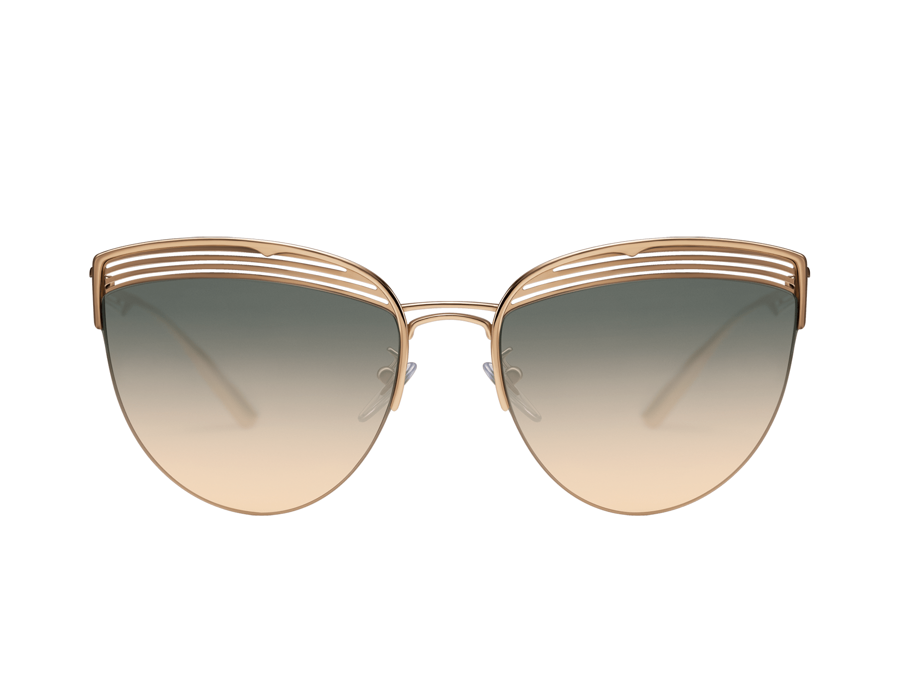 Gafas de sol Bvlgari B.zero1 B.purevibes de ojo de gato con semiarmazón en metal. 903895 image 2