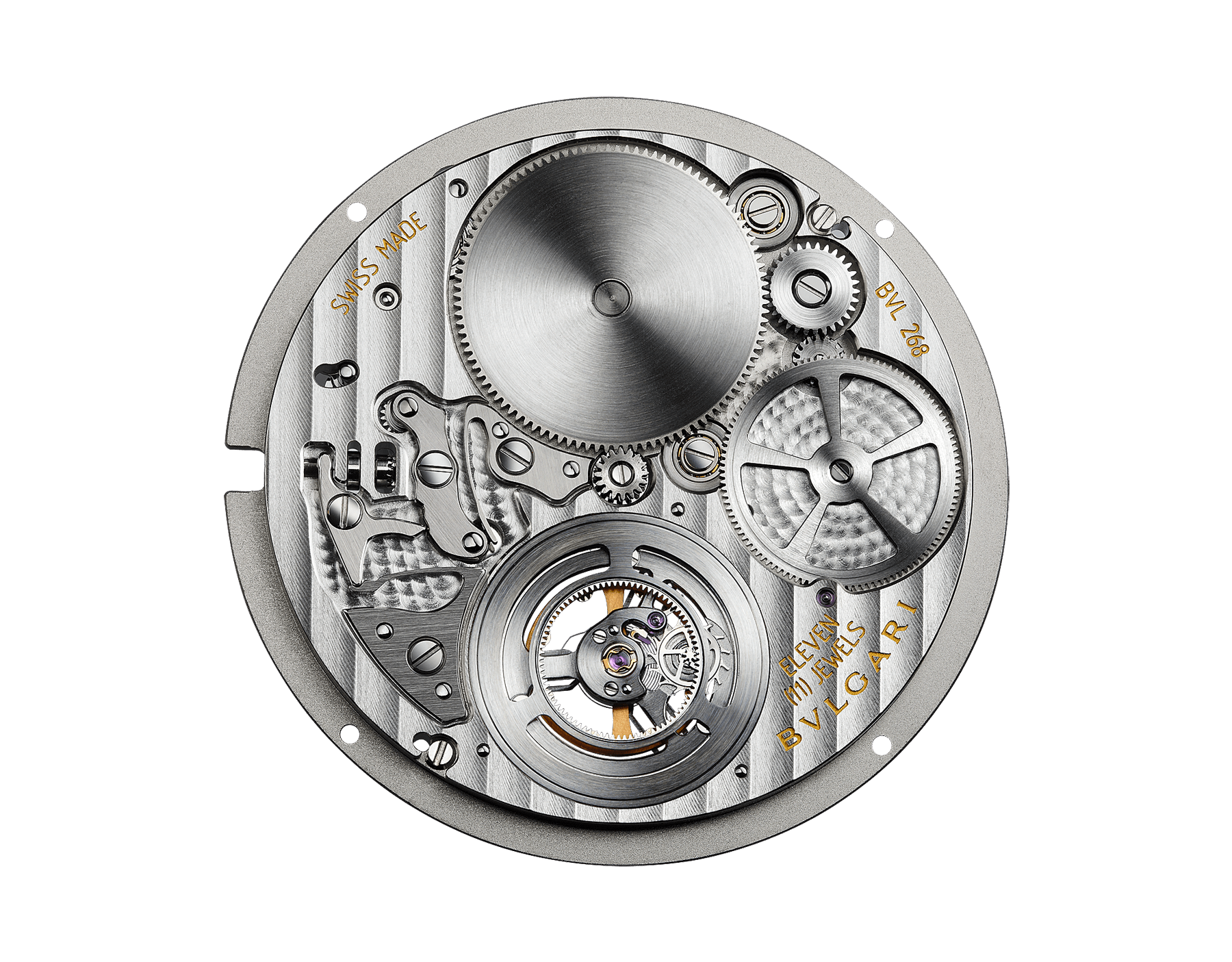 Orologio Octo Finissimo Tourbillon con movimento meccanico di manifattura ultrapiatto a carica manuale con cuscinetti a sfera, cassa in titanio con trattamento DLC (Diamond-Like Carbon), quadrante laccato nero con tourbillon a vista e cinturino in alligatore nero. 102560 image 3