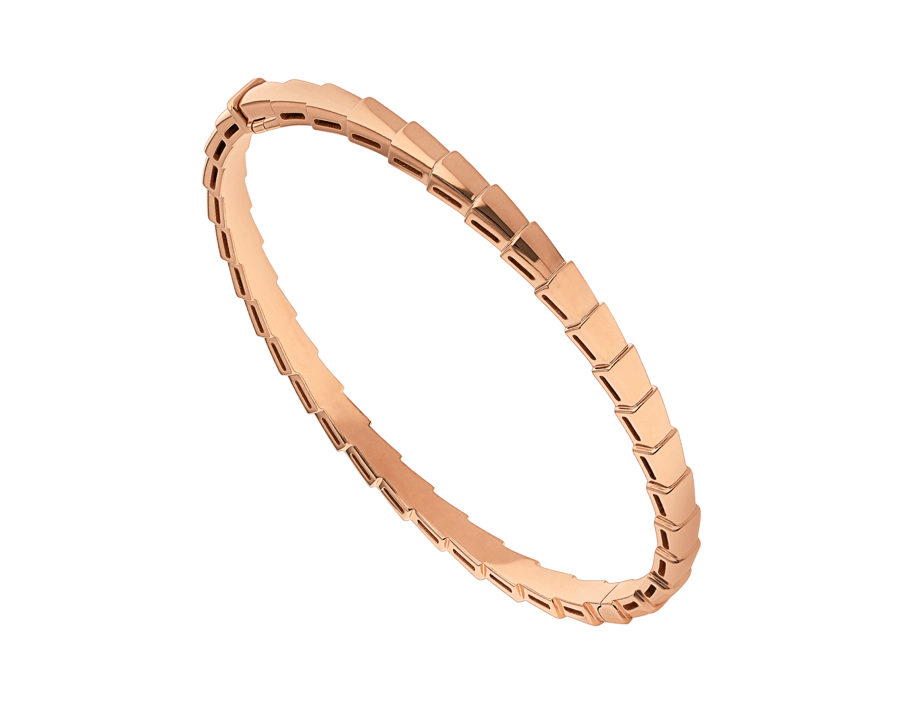Bracelet Serpenti Viper en or rose 18 K (4 mm de largeur) BR858386 image 1