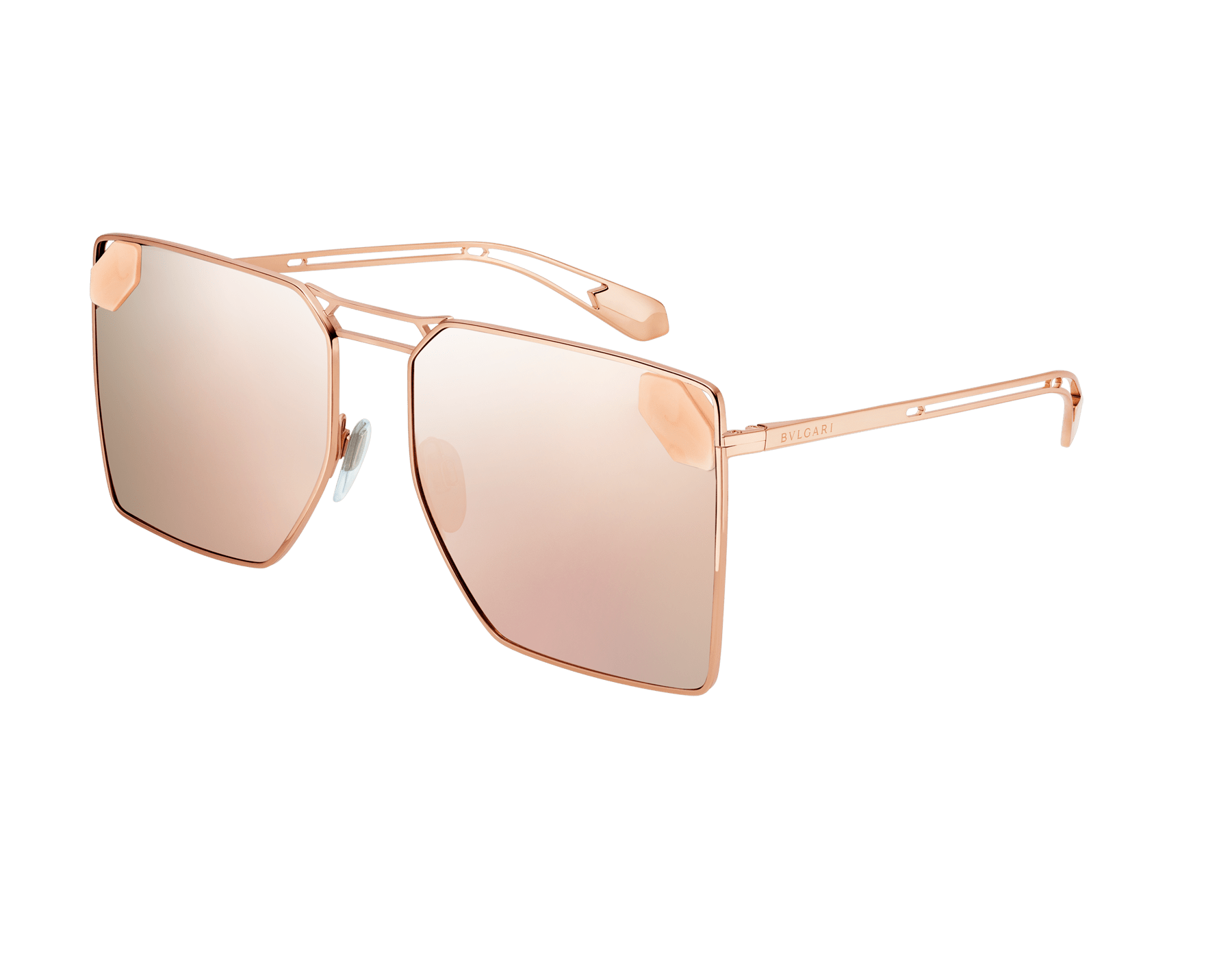 "Serpenti ""Sunnyscale"" oversized square metal sunglasses. 904030 image 1"