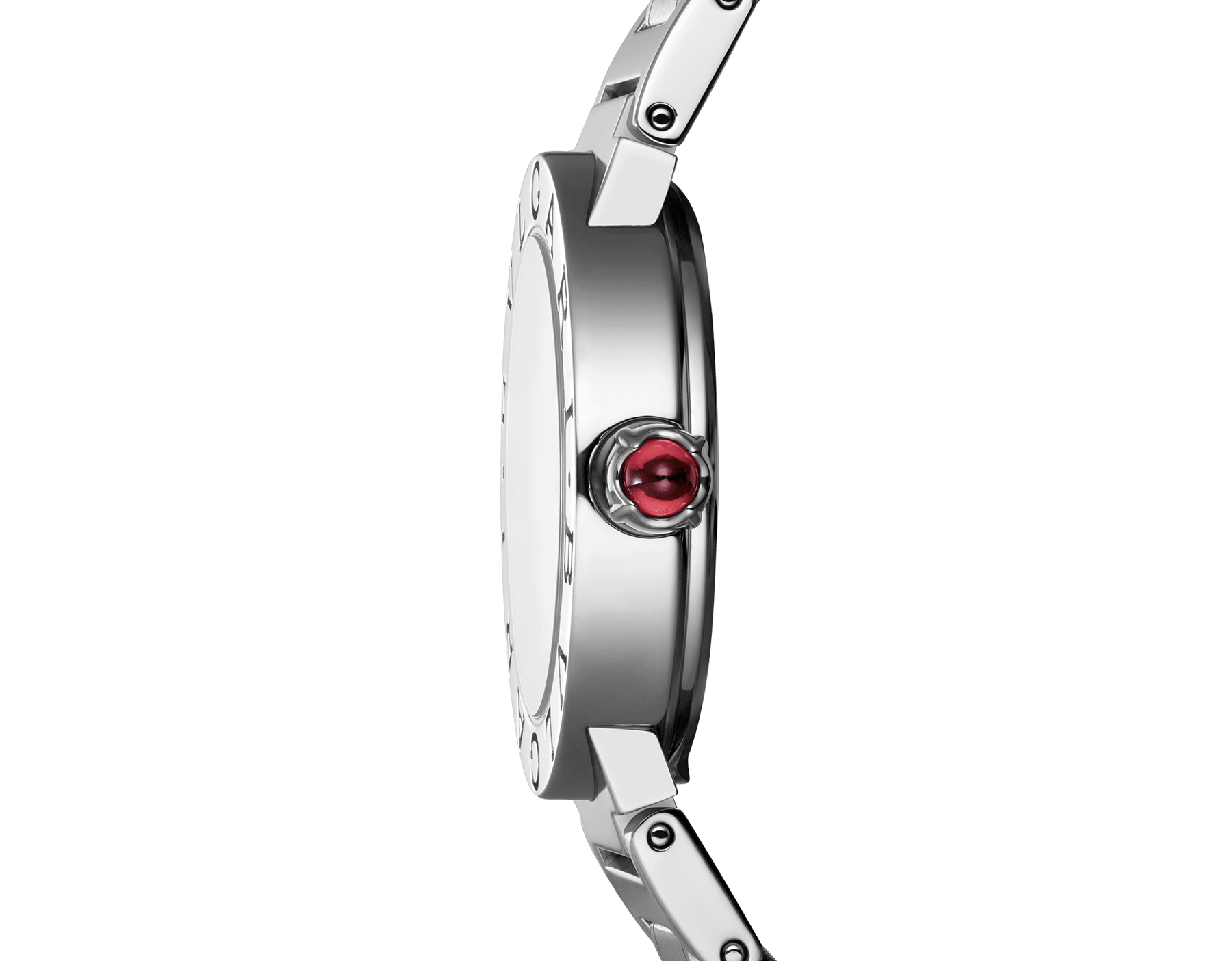 BVLGARI BVLGARI watch in stainless steel case and bracelet, with white mother-of-pearl dial and diamond indexes. Small model 101886 image 3