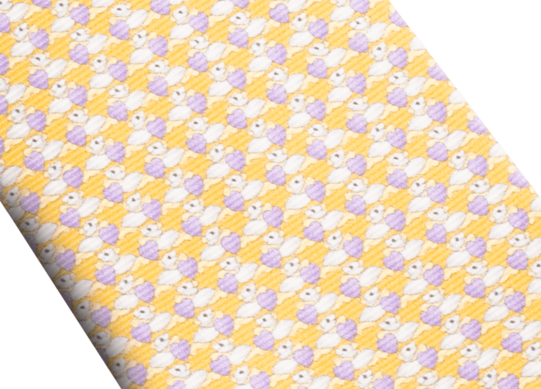 Cravate sept plis Pandheart jaune en fine serge de soie imprimée. 243628 image 2