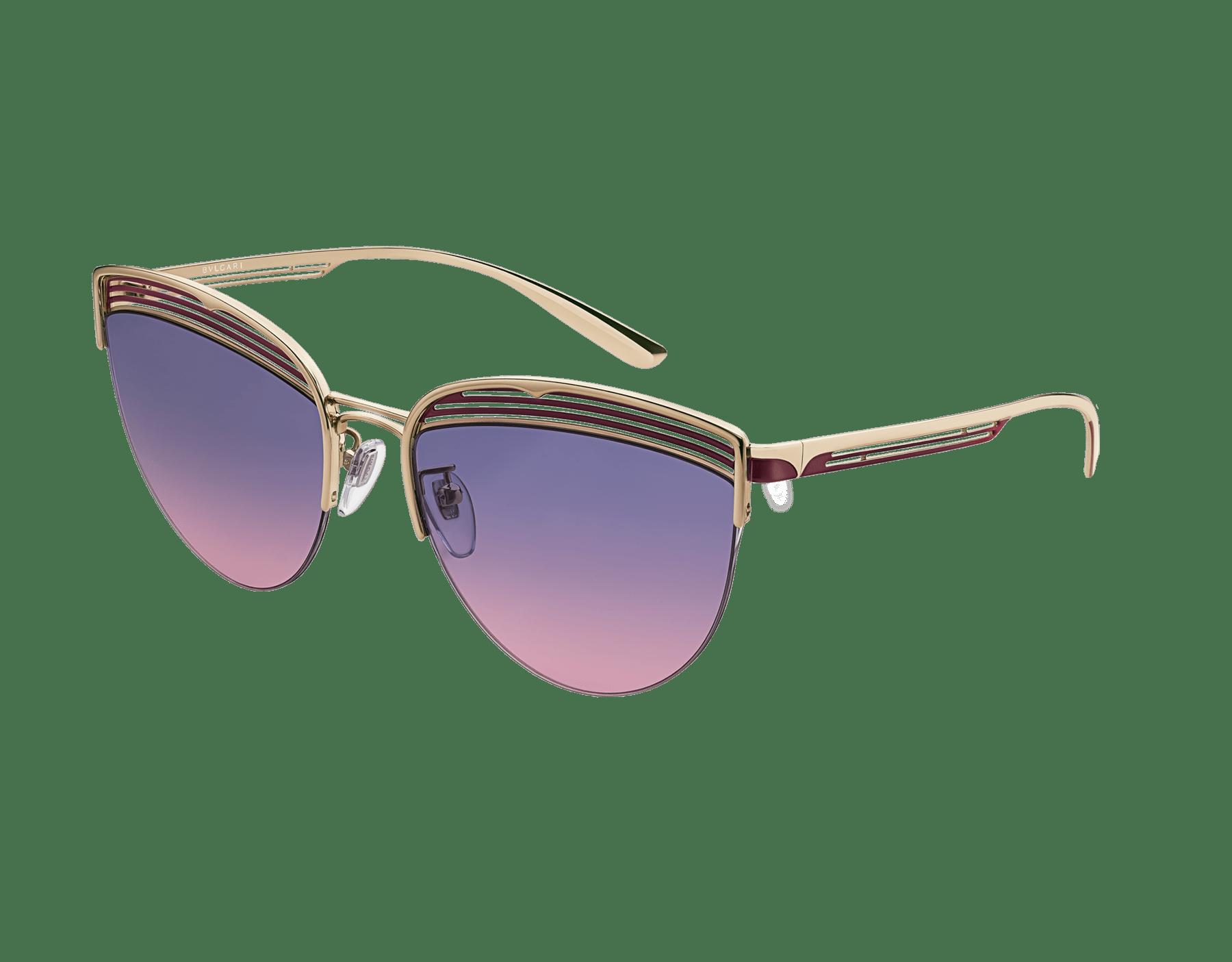 Bvlgari B.zero1 B.purevibes semi-rimless cat-eye metal sunglasses. 903716 image 1