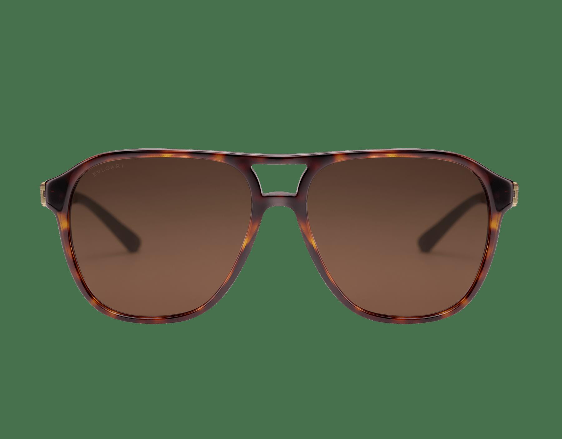 Bvlgari Diagono acetate aviator sunglasses. 903830 image 2