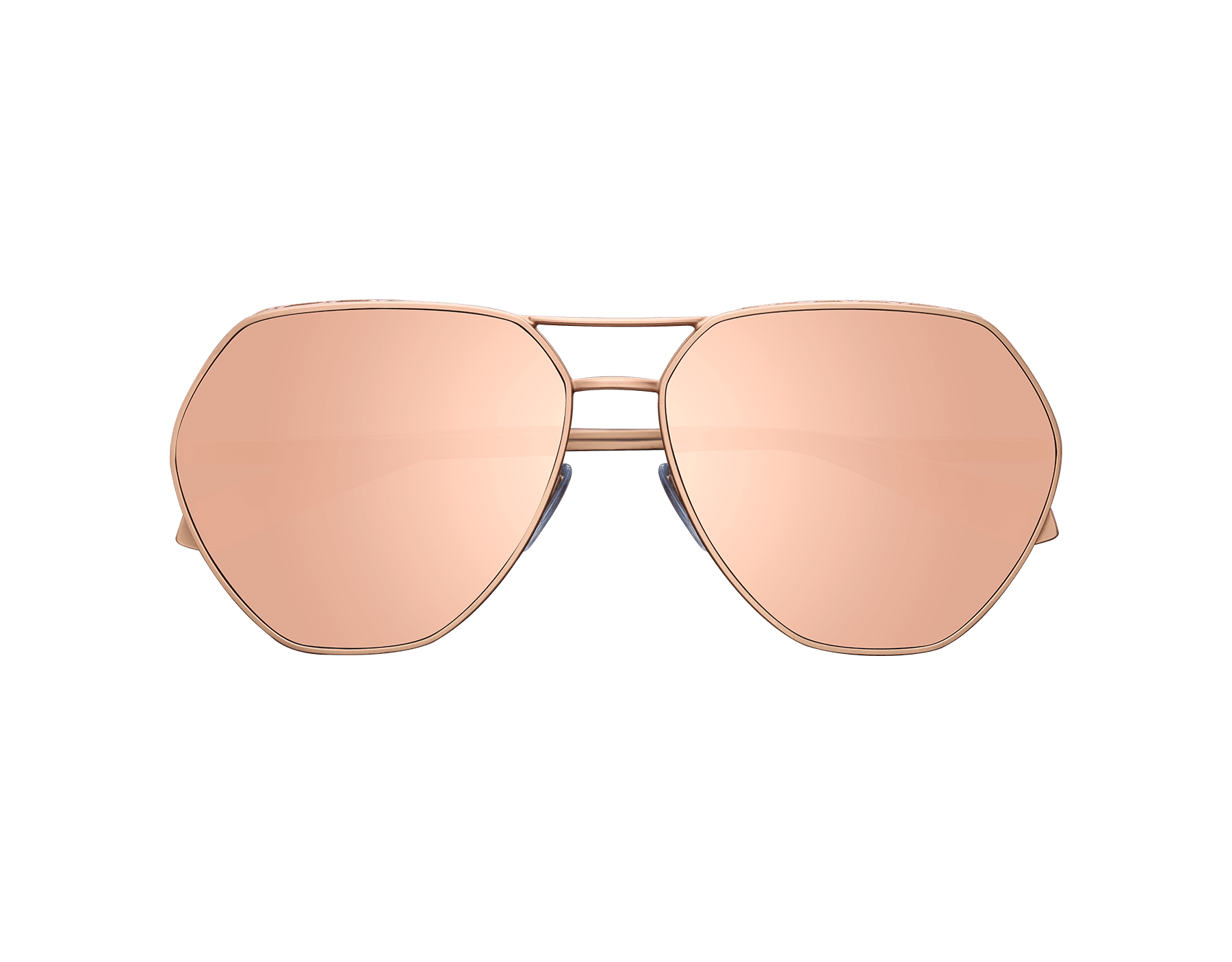 Serpenti 'Freedomation' oversized aviator sunglasses with flat, angular lenses. 903404 image 1