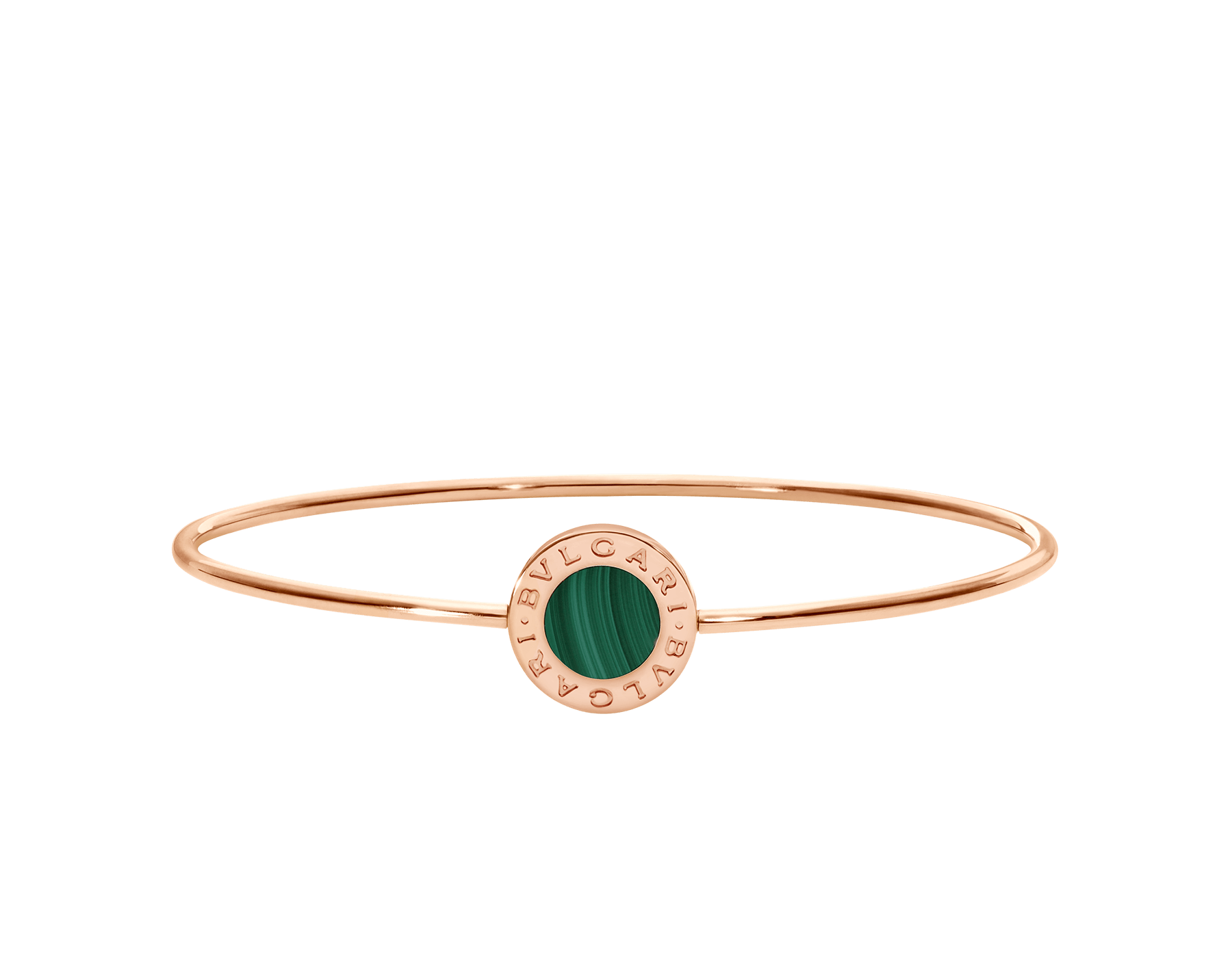 BVLGARI BVLGARI 18 kt rose gold bracelet set with malachite element BR858696 image 2