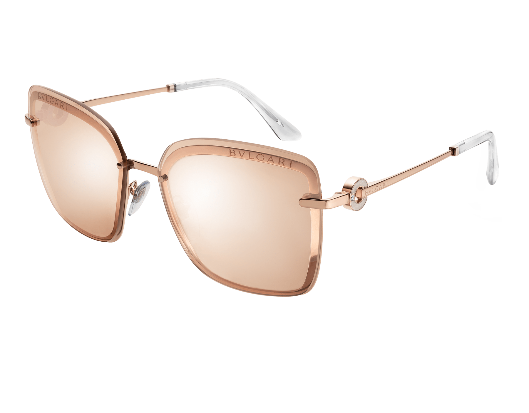 "Bvlgari Bvlgari ""On-Me"" metal square sunglasses. 904054 image 1"