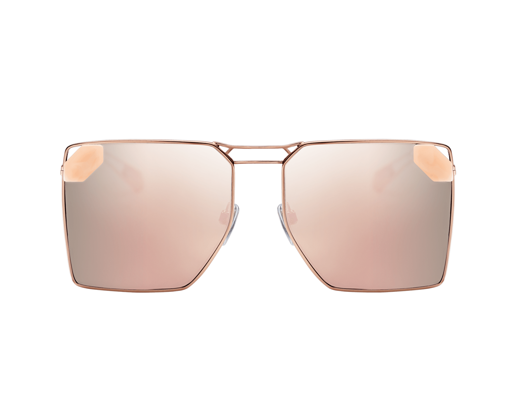 "Serpenti ""Sunnyscale"" oversized square metal sunglasses. 904030 image 2"