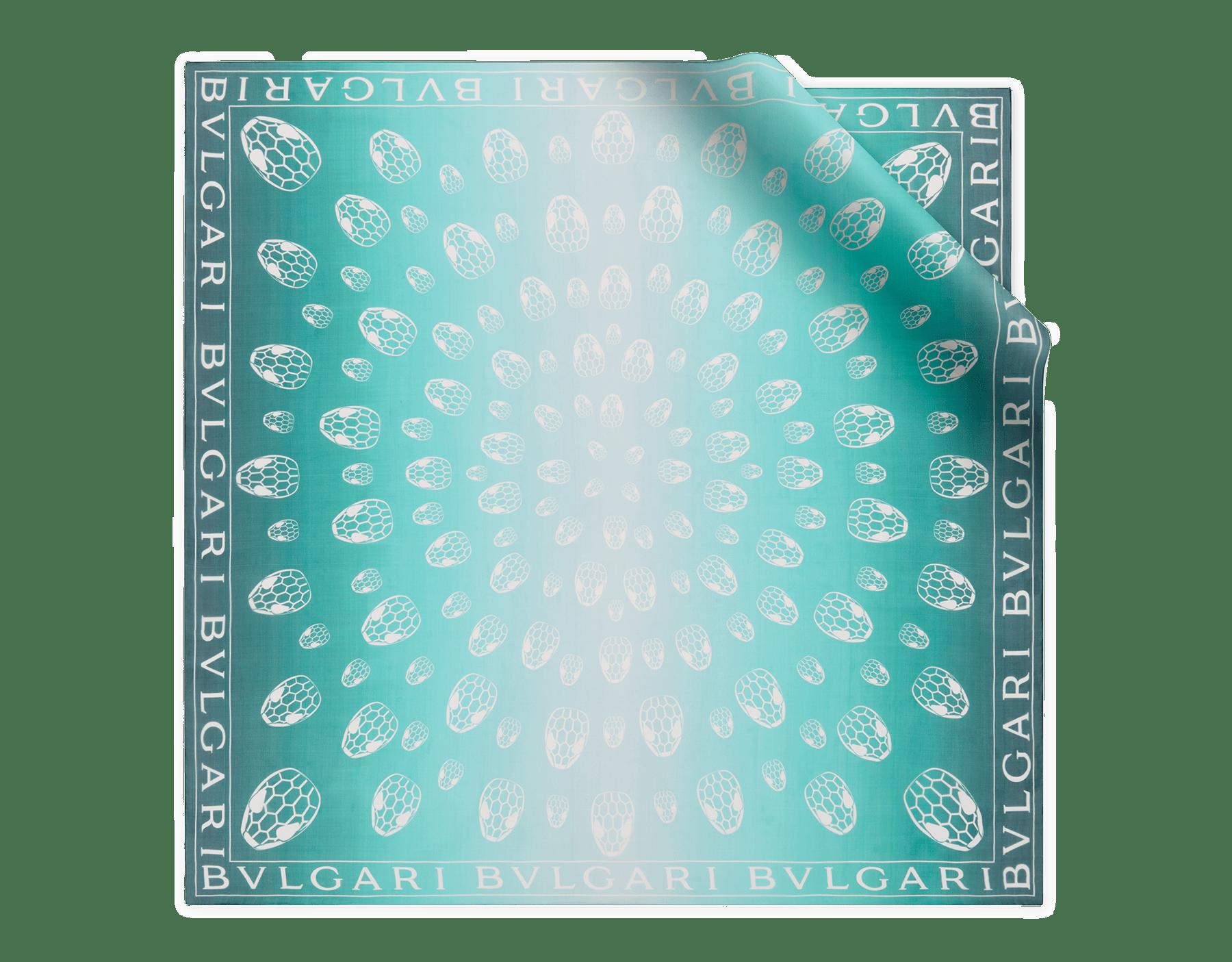 Deep jade Snakemania scarf in fine silk. 243772 image 1