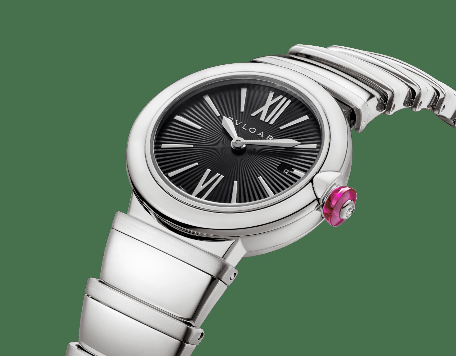 Montre LVCEA avec boîtier et bracelet en acier inoxydable, cadran noir. 102690 image 2