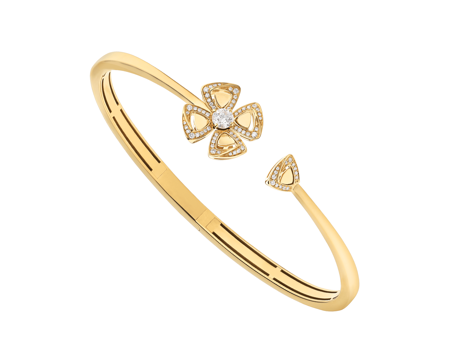 Fiorever 18 kt yellow gold bracelet set with a central diamond (0.20 ct) and pavé diamonds (0.15 ct) BR858997 image 1