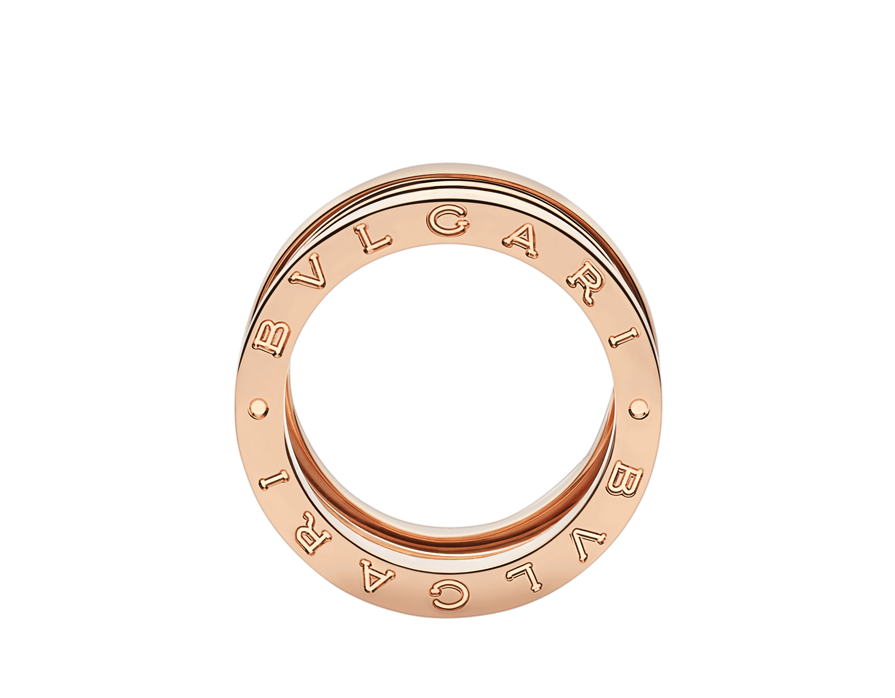 B.zero1 Design Legend four-band ring in 18 kt rose gold. B-zero1-4-bands-AN858030 image 2
