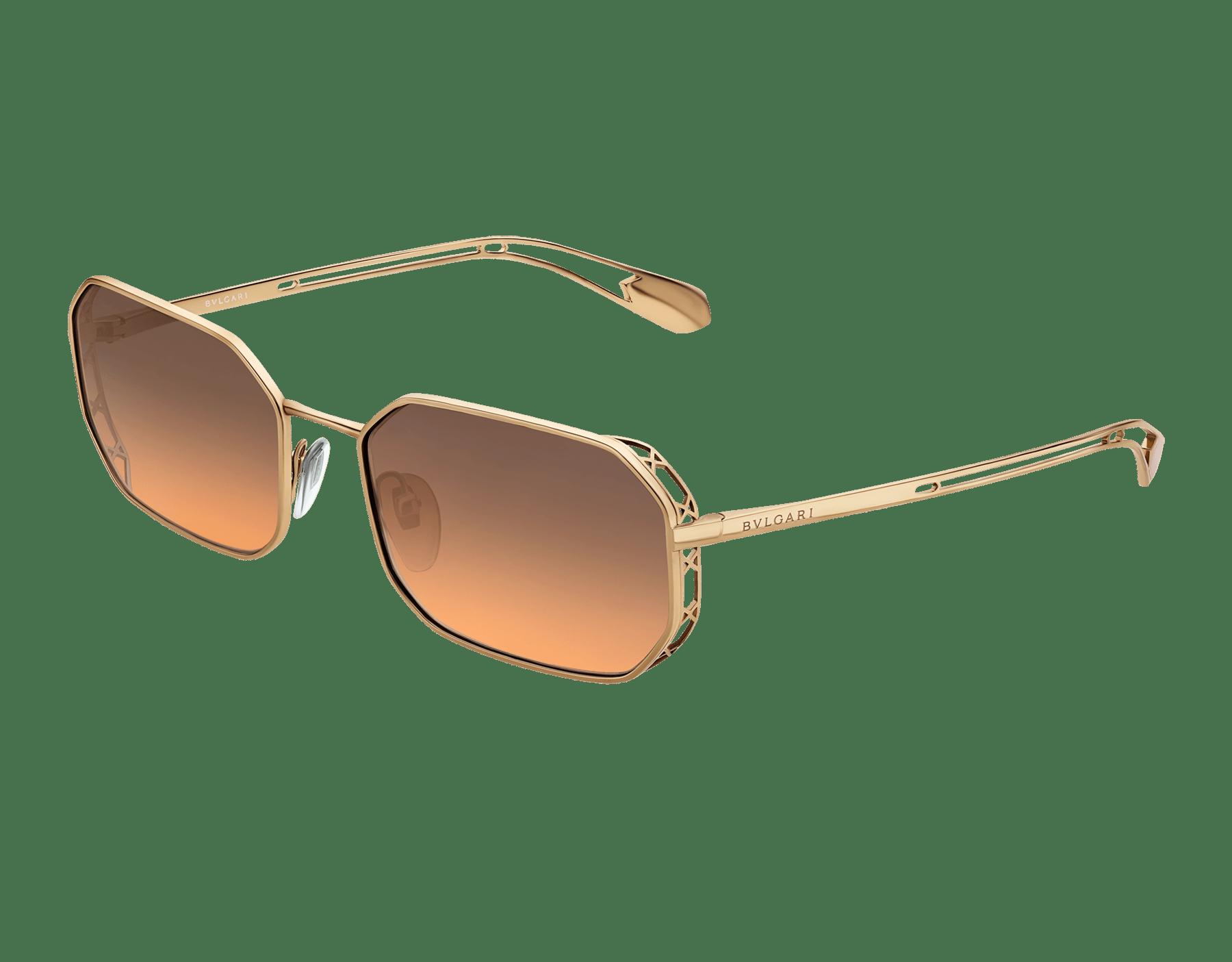 Lunettes de soleil aviateur rectangulaires Bvlgari Serpenti Narrowmation en métal. 903860 image 1