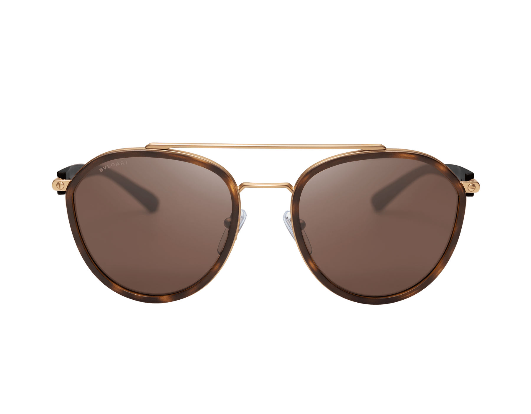 Bvlgari Bvlgari metal rounded double bridge sunglasses. 904042 image 2