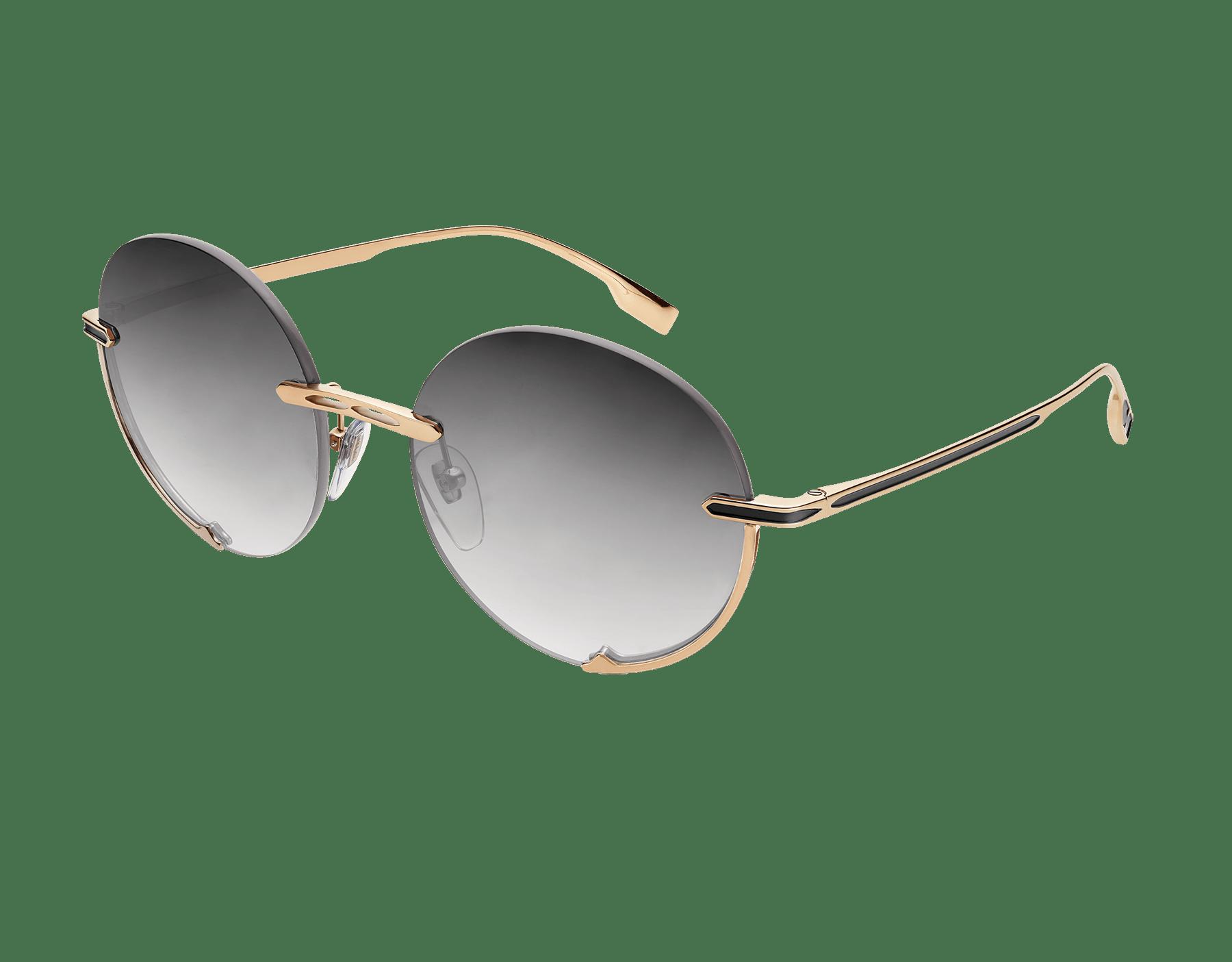 """Bvlgari B.zero1 """"Logo Embrace"""" metal round sunglasses. 904051 image 1"""