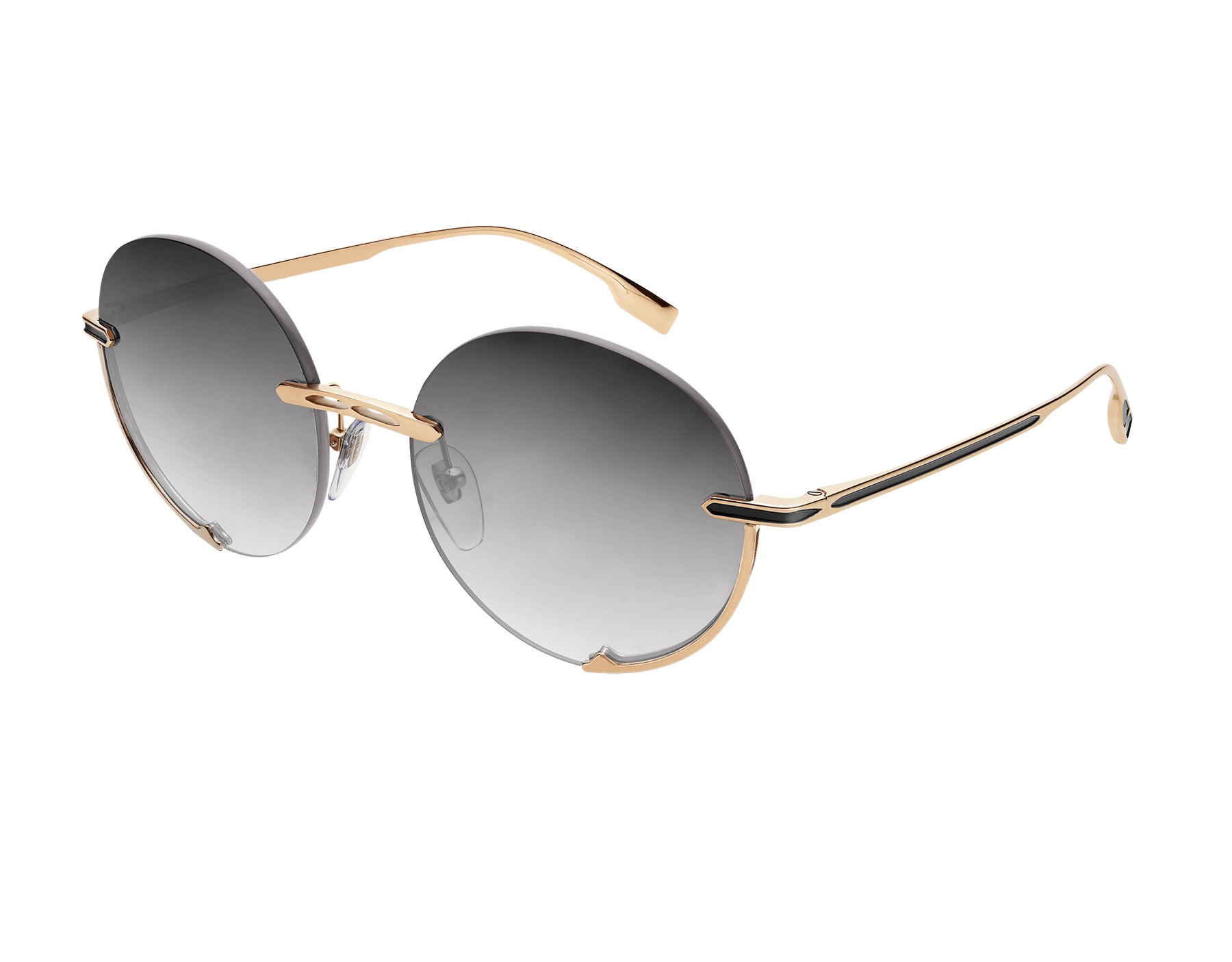 "Bvlgari B.zero1 ""Logo Embrace"" round metal sunglasses. Bzero1logoembrace image 1"