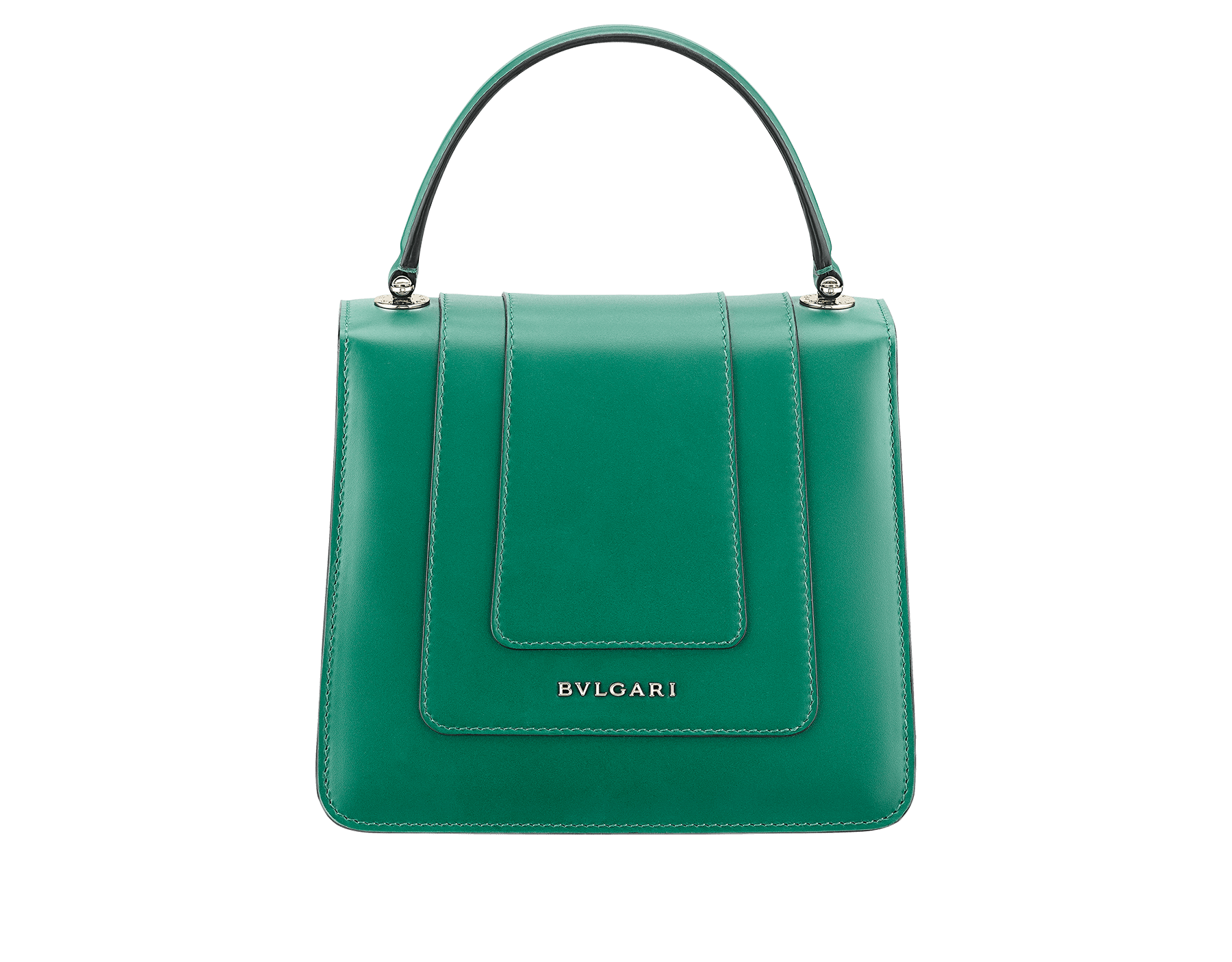 """Serpenti Forever"" crossbody bag in crystal rose calf leather. Iconic snakehead closure in light gold plated brass enriched with black and white enamel and green malachite eyes 752-CLa image 3"