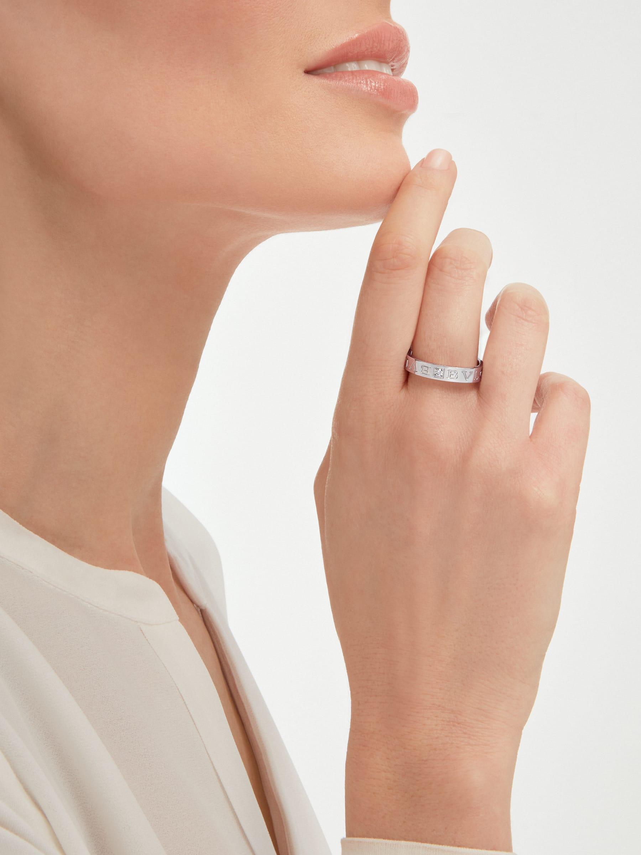 BVLGARI BVLGARI 18 kt white gold ring set with a diamond AN853348 image 3