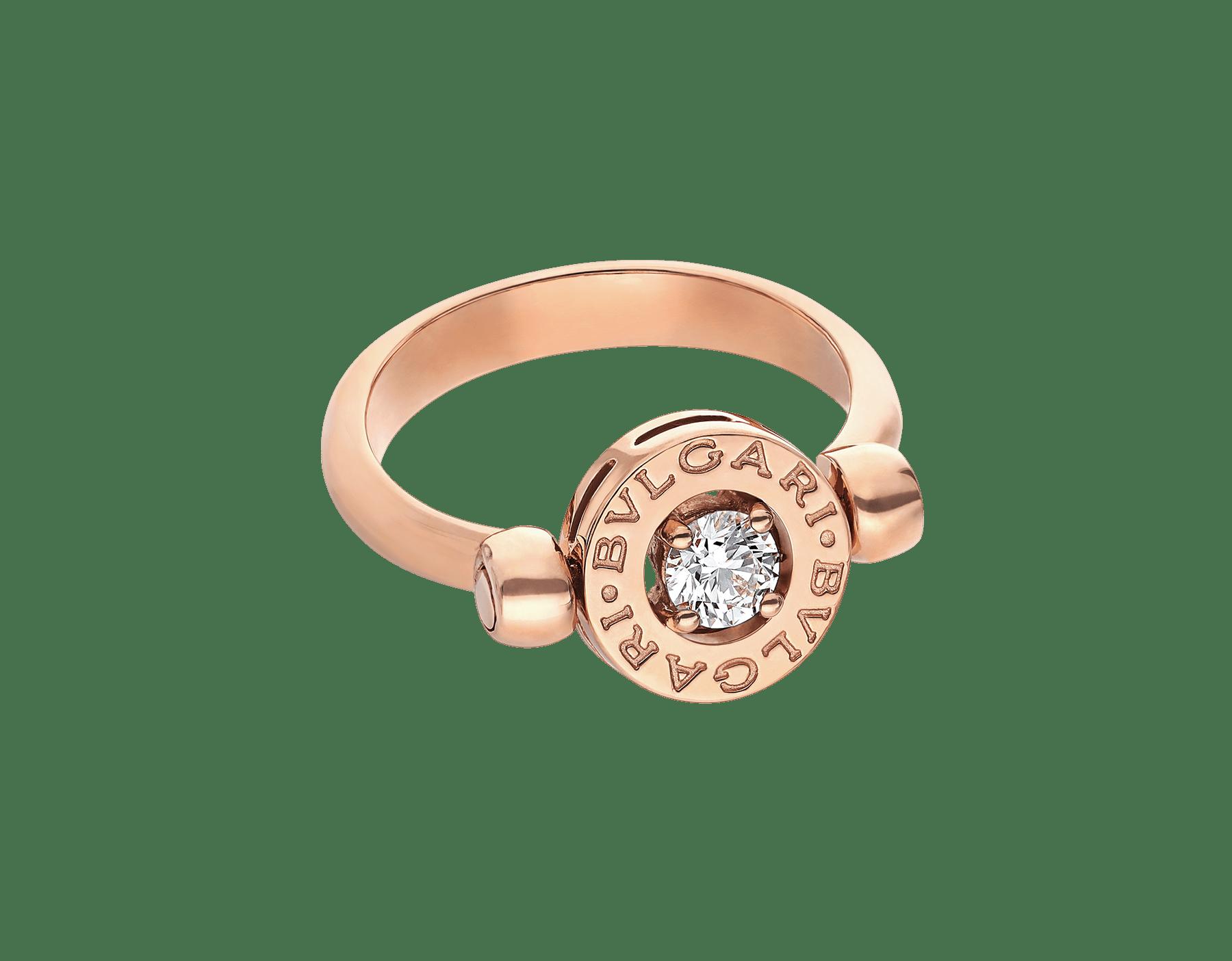Anillo BVLGARI BVLGARI reversible en oro rosa de 18 qt con un diamante. AN853336 image 3