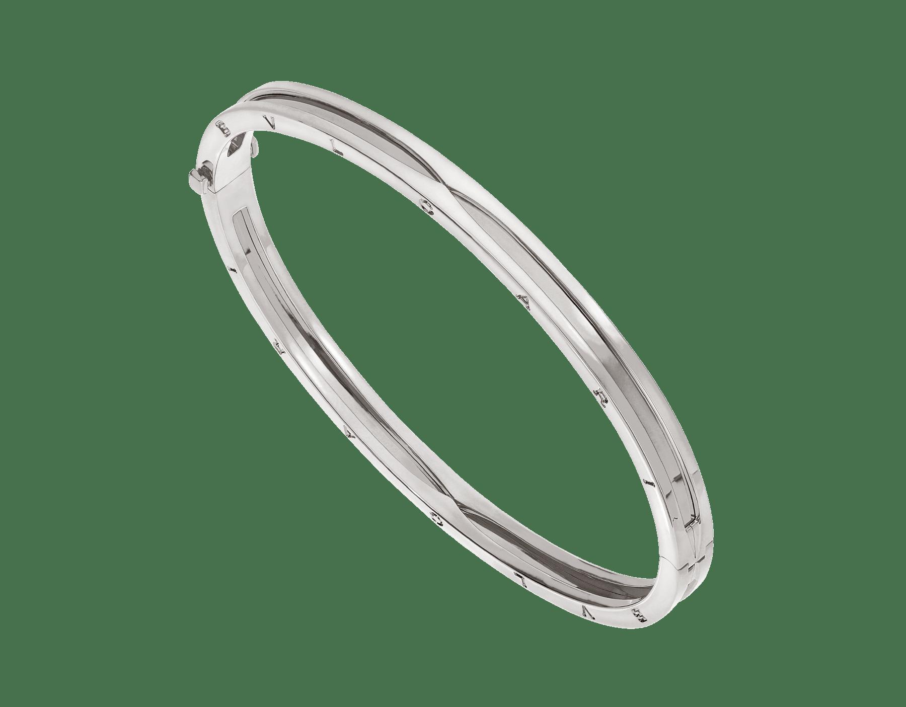 B.zero1 18 kt white gold bangle bracelet BR858727 image 1