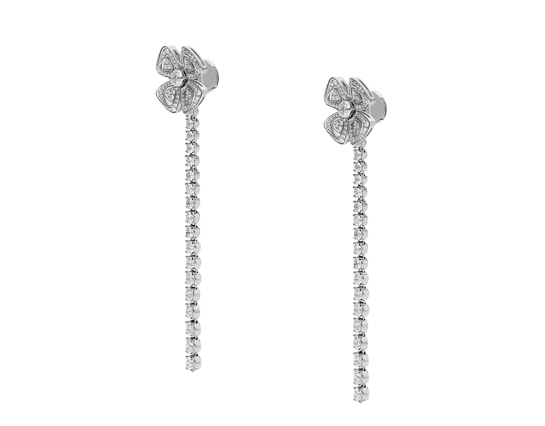 Fiorever 18 kt white gold convertible earrings set with brilliant-cut diamonds (2.81 ct) and pavé diamonds (0.26 ct) 358158 image 3