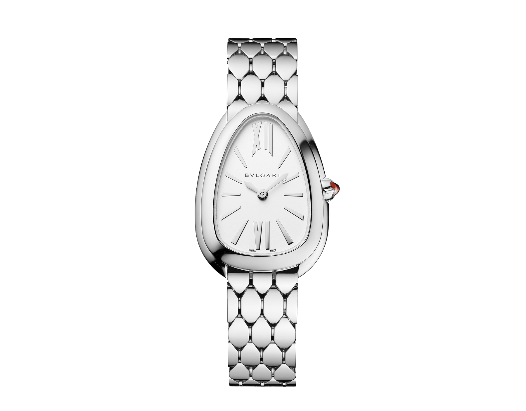 Serpenti Seduttori watch with stainless steel case, stainless steel bracelet and a white silver opaline dial. 103141 image 1