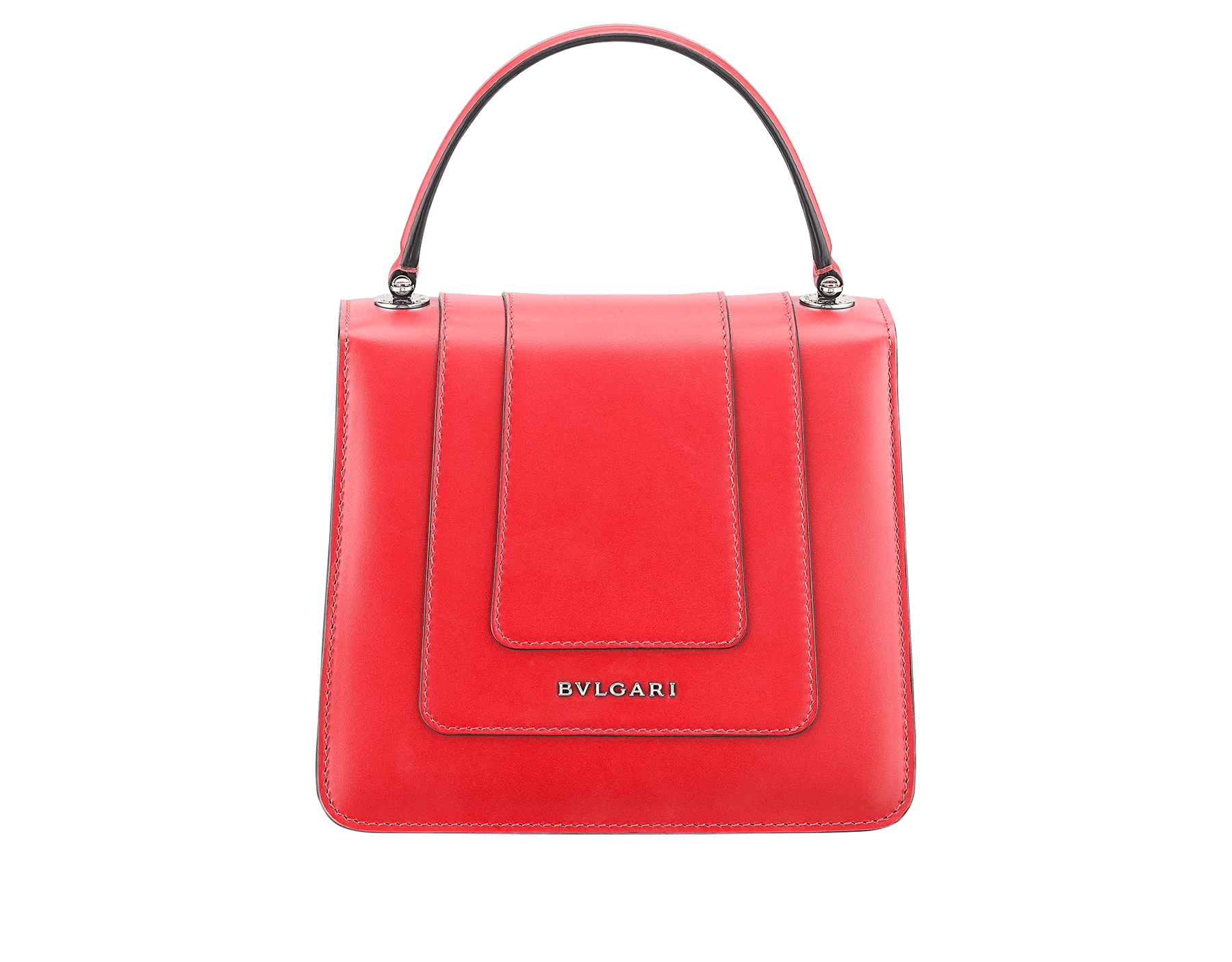 Serpenti Forever crossbody bag in sea star coral smooth calf leather body and milky opal calf leather sides. Snakehead closure in light gold plated brass decorated with milky opal and black enamel, and black onyx eyes. 287961 image 3