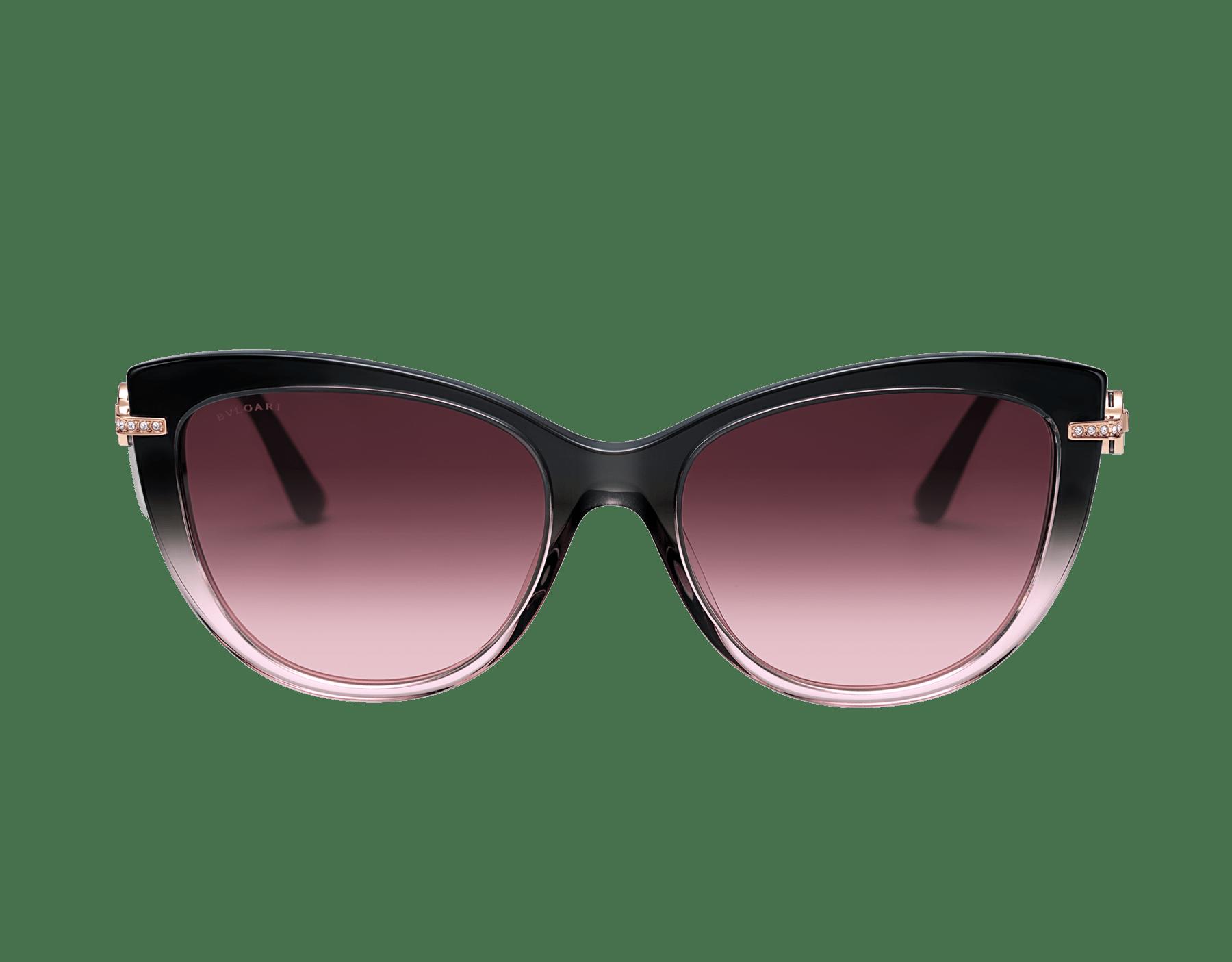 BVLGARI BVLGARI cat-eye acetate sunglasses with metal décor and crystals. 903802 image 2