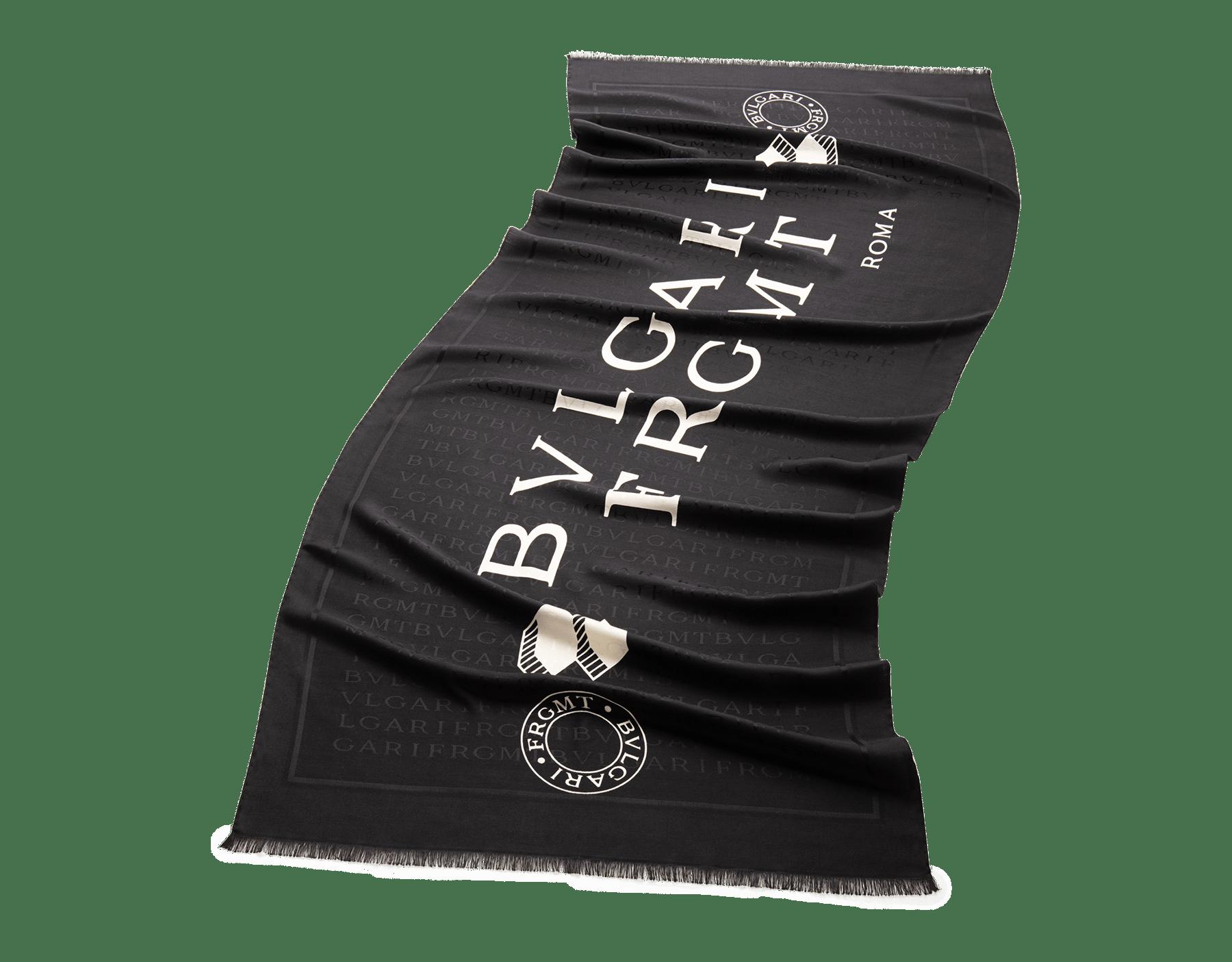 「BVLGARI x FRAGMENT by Hiroshi Fujiwara」ブラックストール。上質なウール製。 243896 image 1