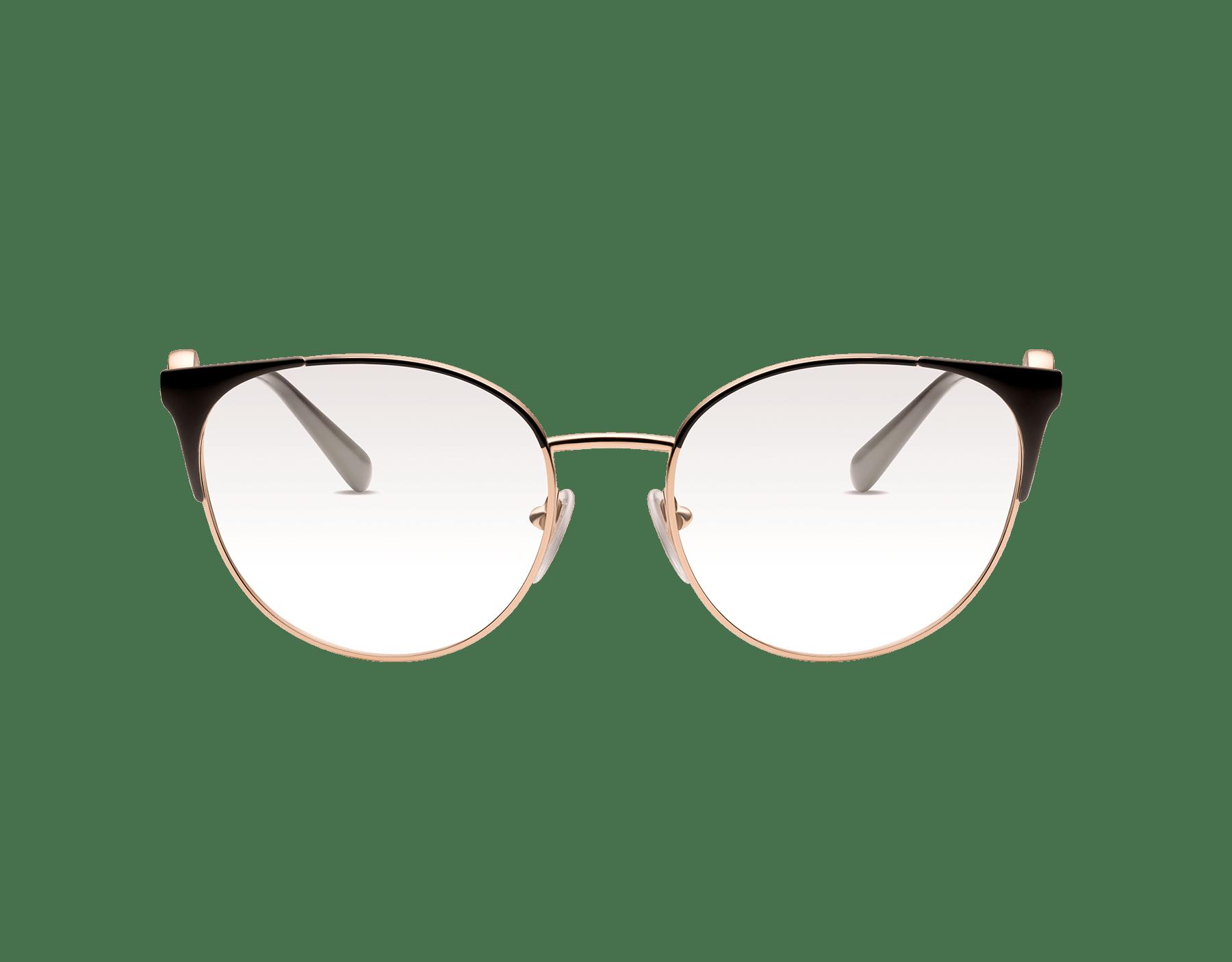 Occhiali da vista Bvlgari Bvlgari con montatura in metallo dalla forma tondeggiante. 903553 image 2