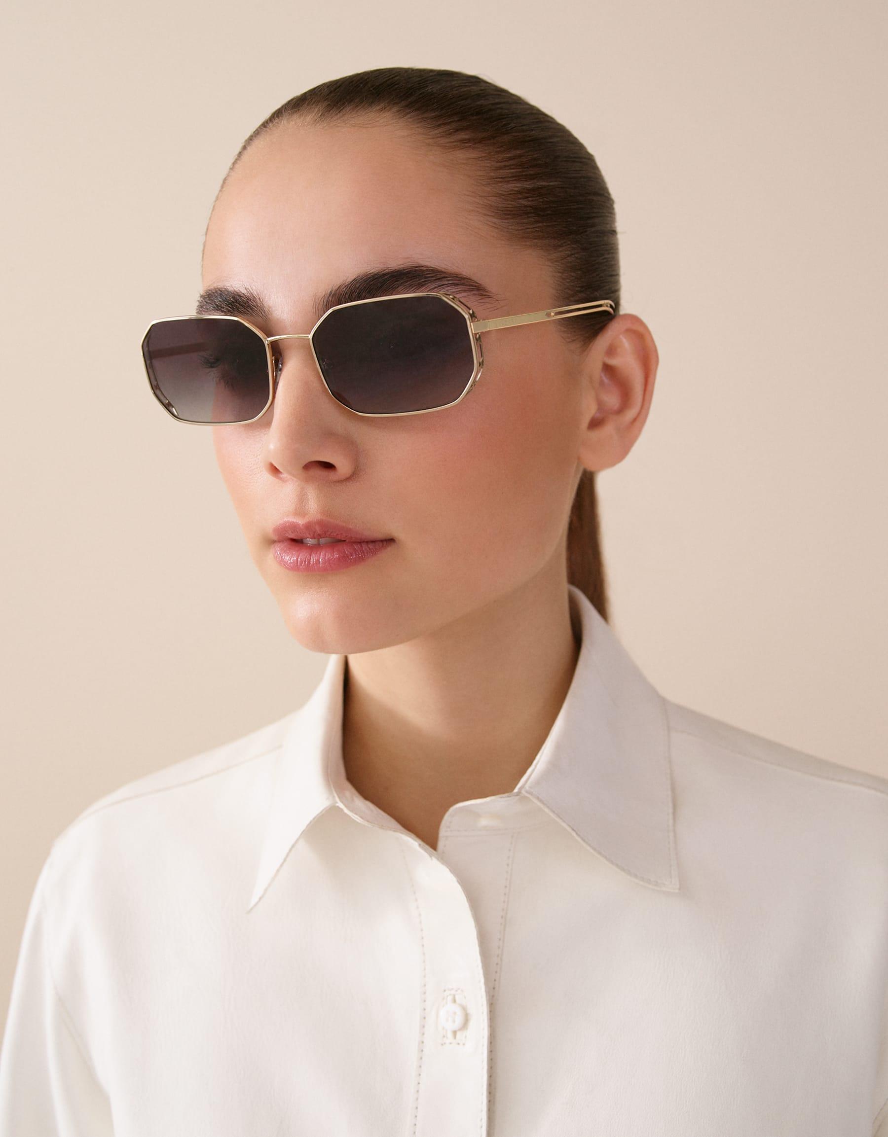 Bvlgari Serpenti Narrowmation rectangular metal aviator sunglasses. 903859 image 3
