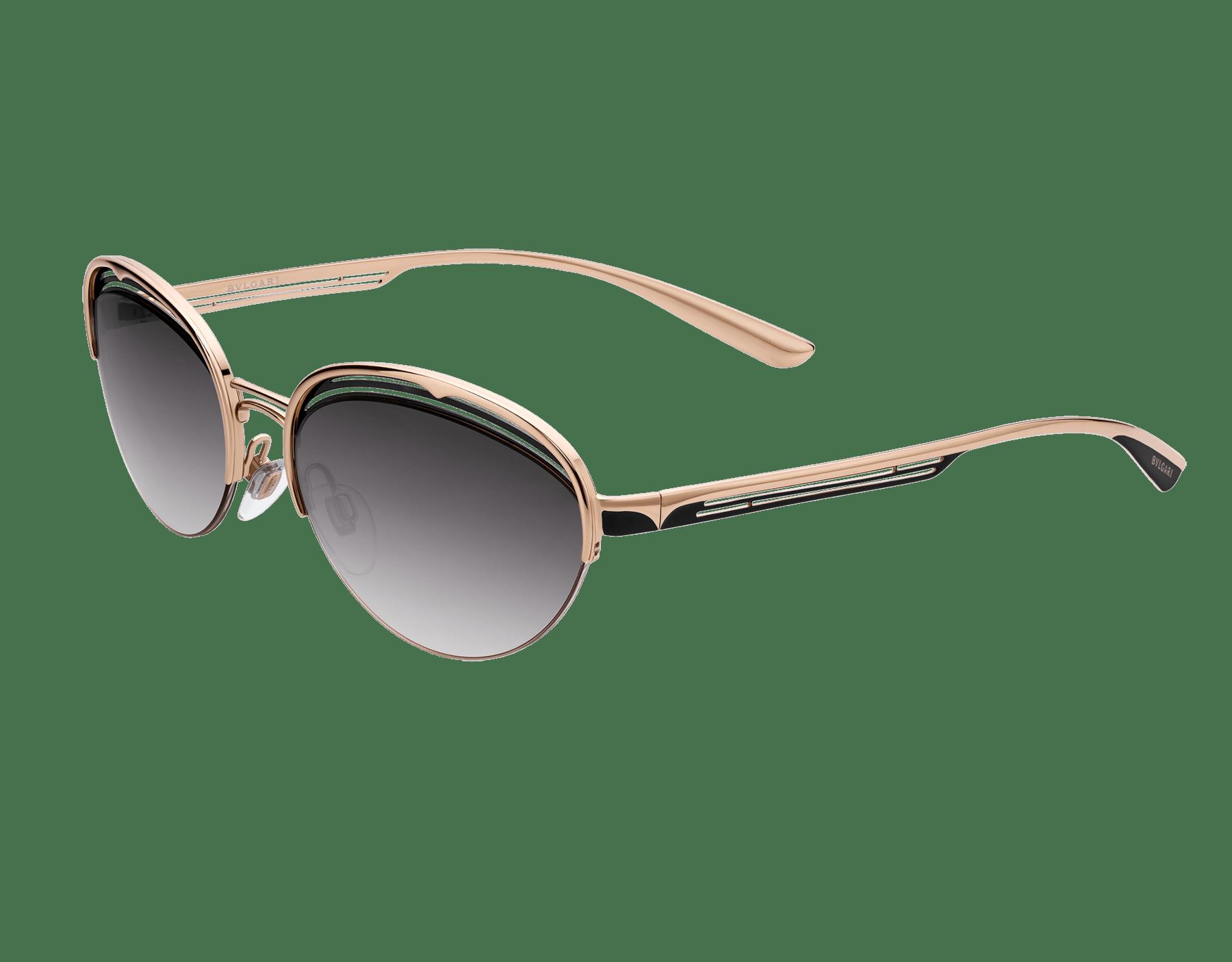 Bulgari B.zero1 B.retrovibe half rim oval metal sunglasses. 903893 image 1