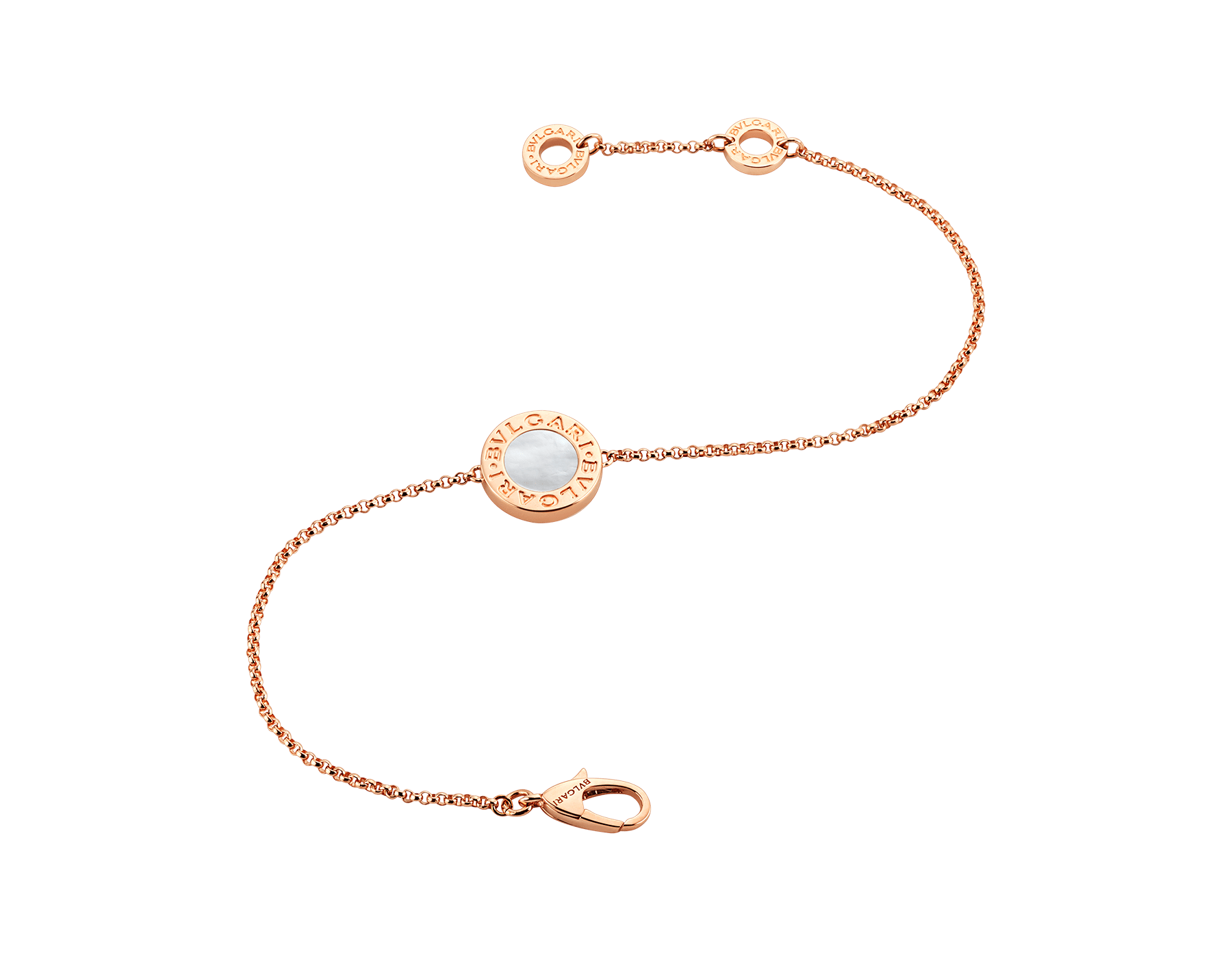 BVLGARI BVLGARI 18 kt rose gold bracelet set with mother-of-pearl elements BR857192 image 2