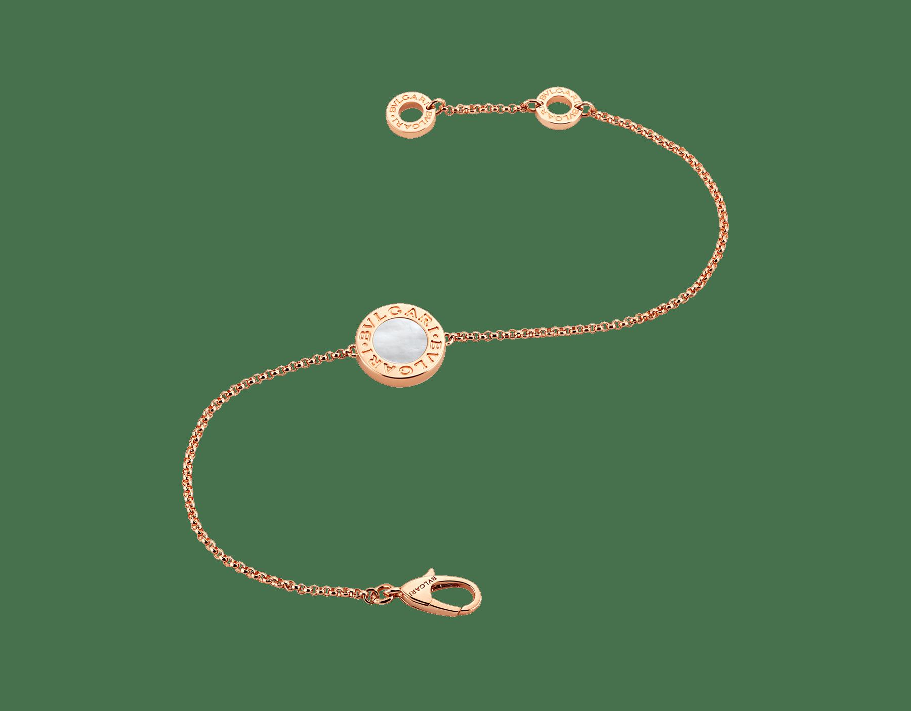 Pulsera BVLGARI BVLGARI en oro rosa de 18qt con madreperla engastada. BR857192 image 2