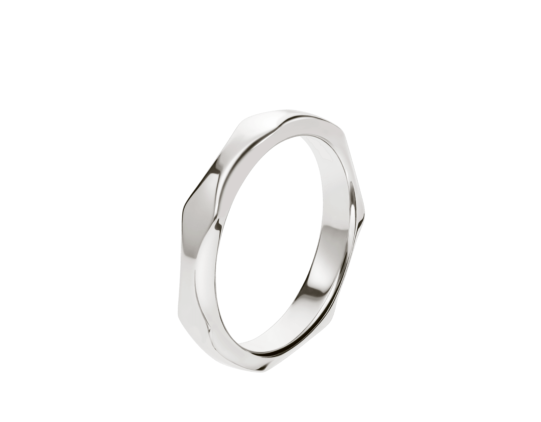 Infinito wedding band in platinum. AN857693 image 1